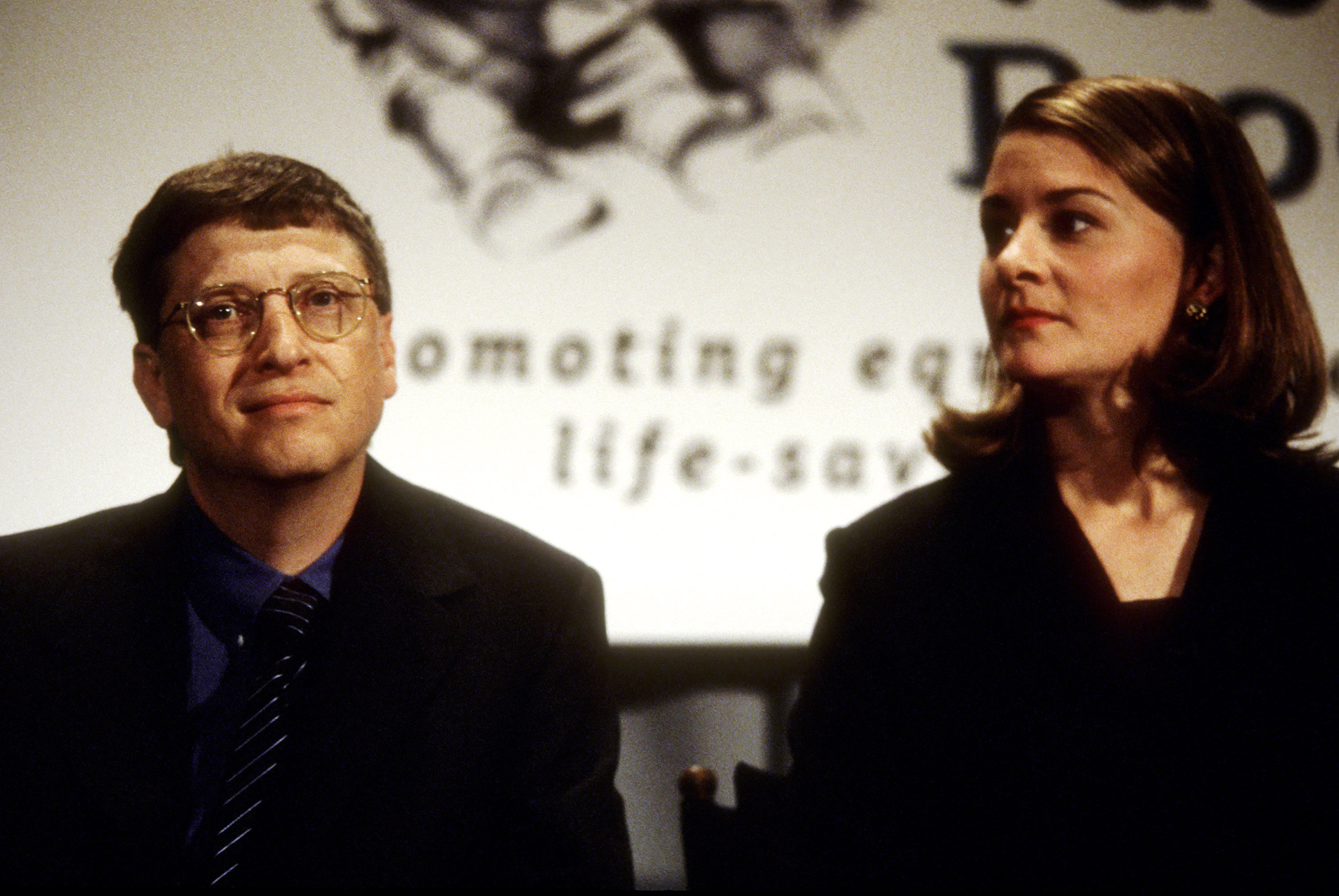 Bill Gates and Melinda Gates in New York City in December 1998.