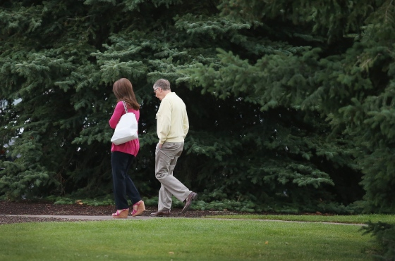 Bill and Melinda Gates attend the Allen & Company Sun Valley Conference in Idaho on July 11, 2015.