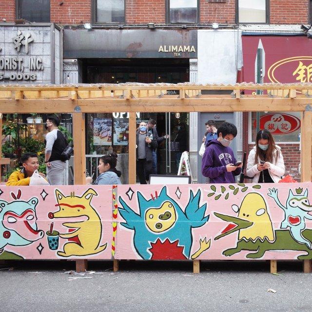 AAPI Artists Create Vibrant Murals for Chinatown Restaurants