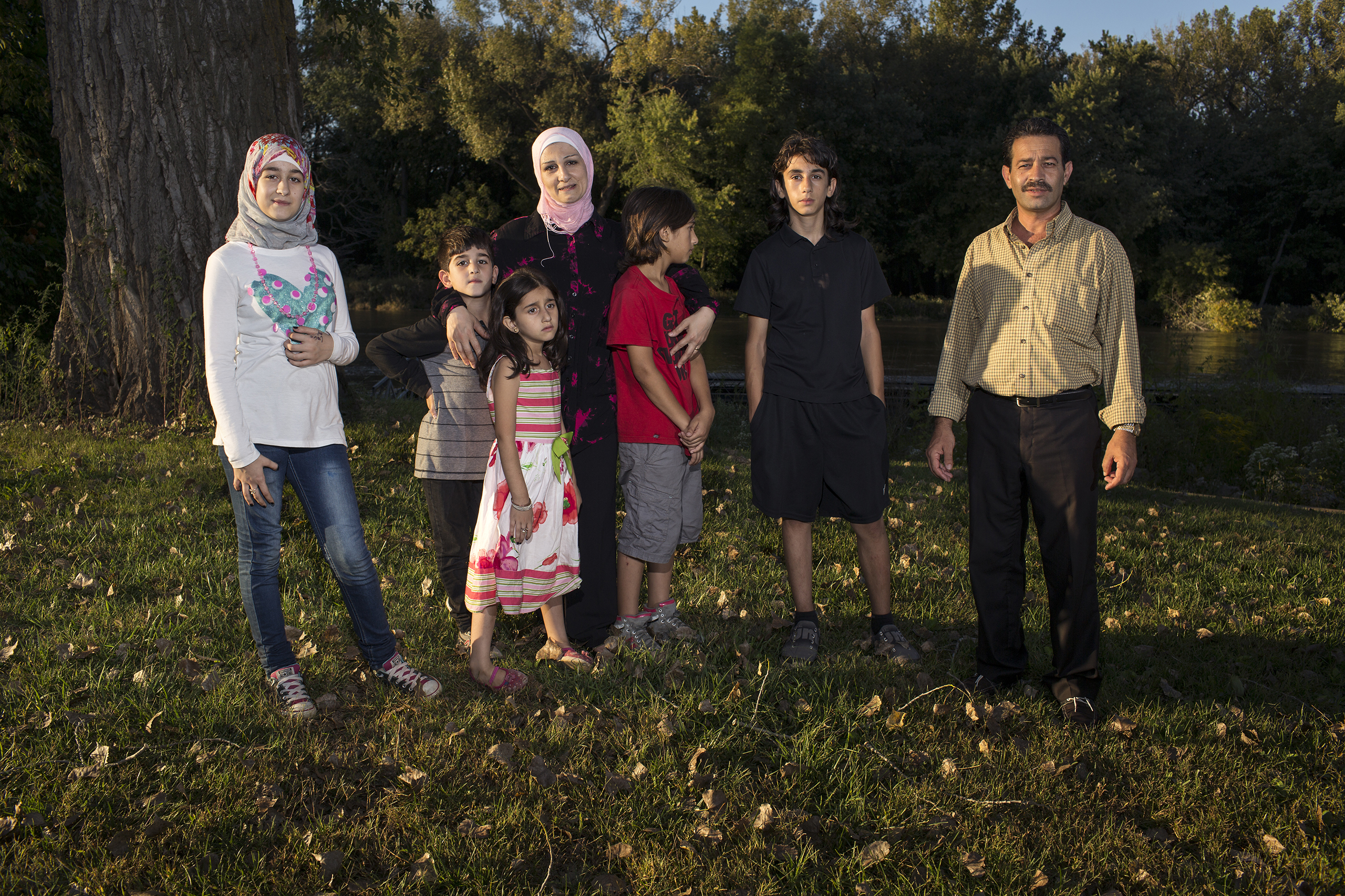 Ghazweh and Abdul Fattah at a park in Des Moines in 2016 with their children, from left to right: Sedra, Mutaz, Hala, Haidar and Nazeer. That year, the Tameems became the first Syrian refugee family to be resettled in Iowa. In the four decades of the U.S. refugee resettlement program, America has safely resettled more than three million of the world's most vulnerable refugees with an average annual cap set at 95,000 prior to the Trump administration.