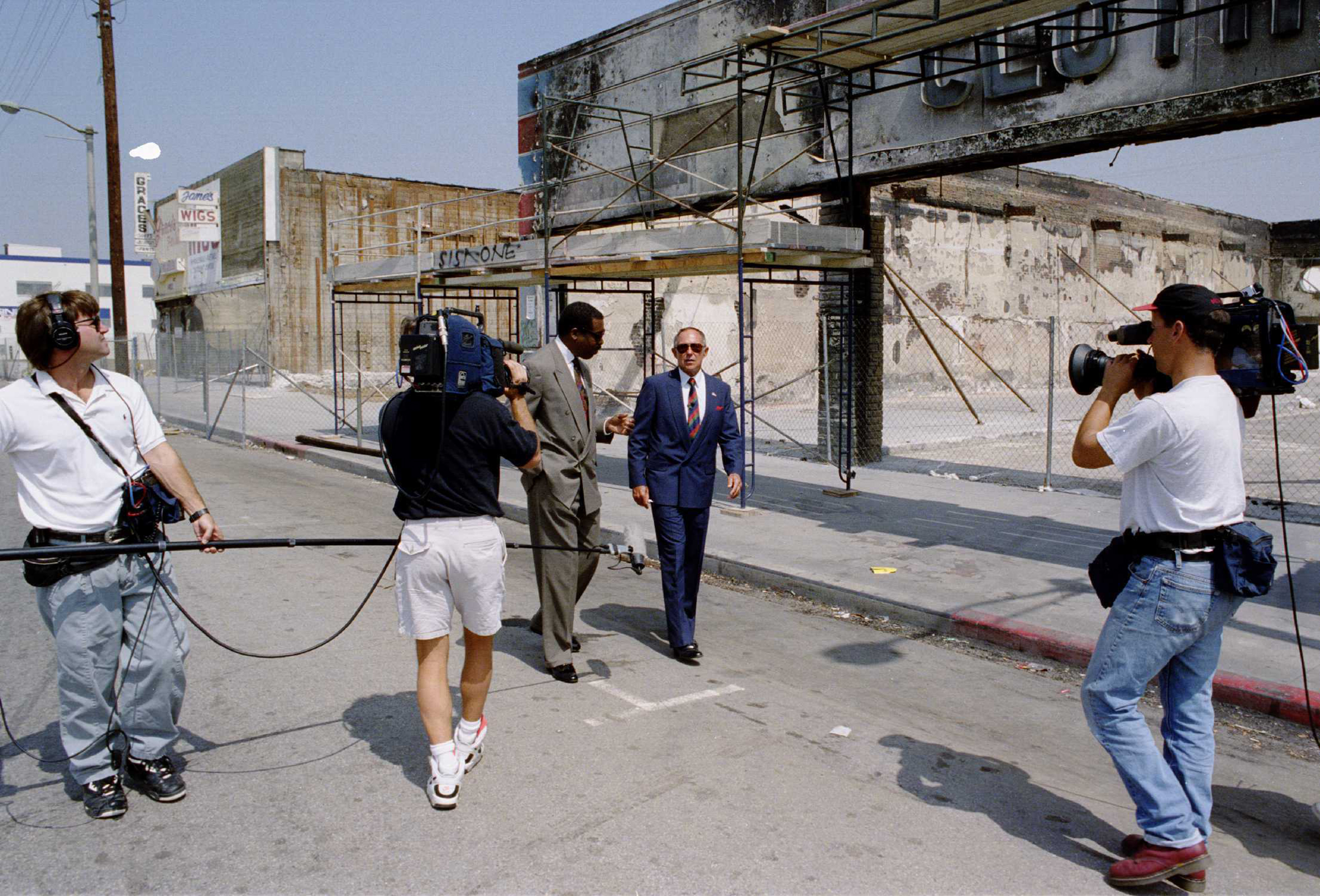 Daryl Gates, the former police chief, during an interview with a television station close to the scene where the riots began.