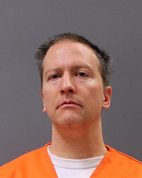 Former Minneapolis police officer Derek Chauvin poses for a booking photo after his conviction April 21, 2021 in Minneapolis, Minnesota.