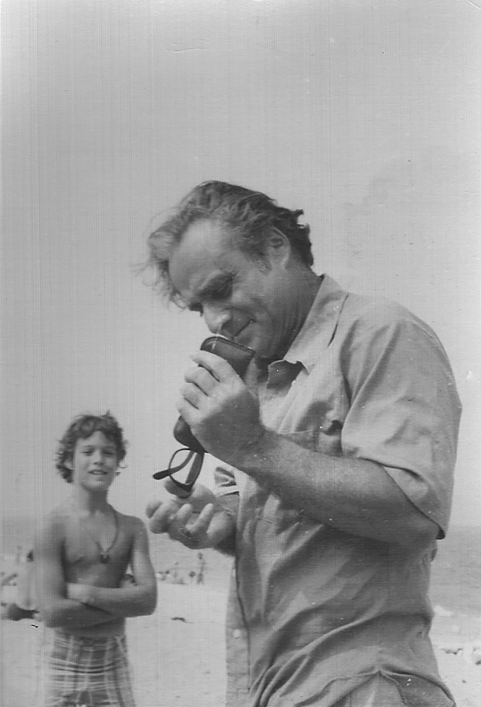 Miguel Chapiro Junger in Truro, Mass., circa 1972.
