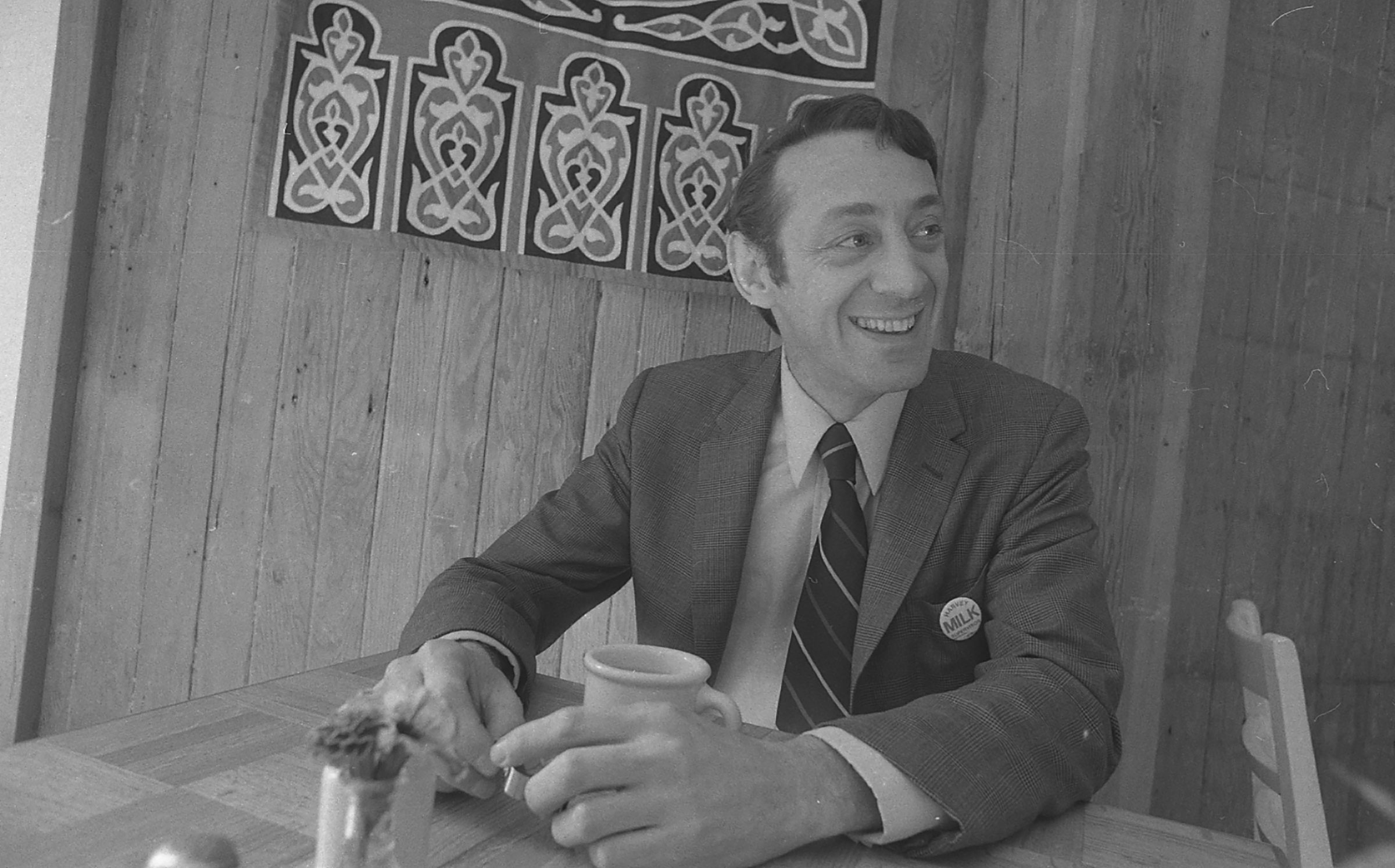 Harvey Milk during his campaign for S.F. Supervisor in 1975.