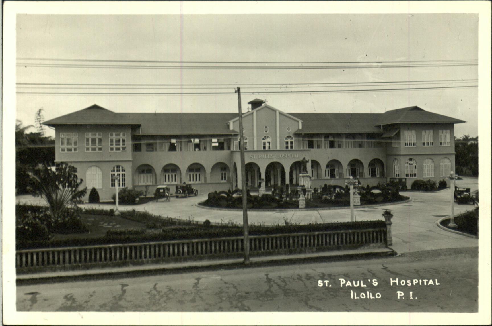Exterior view of Saint Paul's Hospital in Iloilo City, Iloilo, 1920