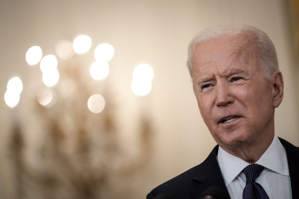 President Joe Biden delivers remarks on the economy in the East Room of the White House on May 10, 2021.