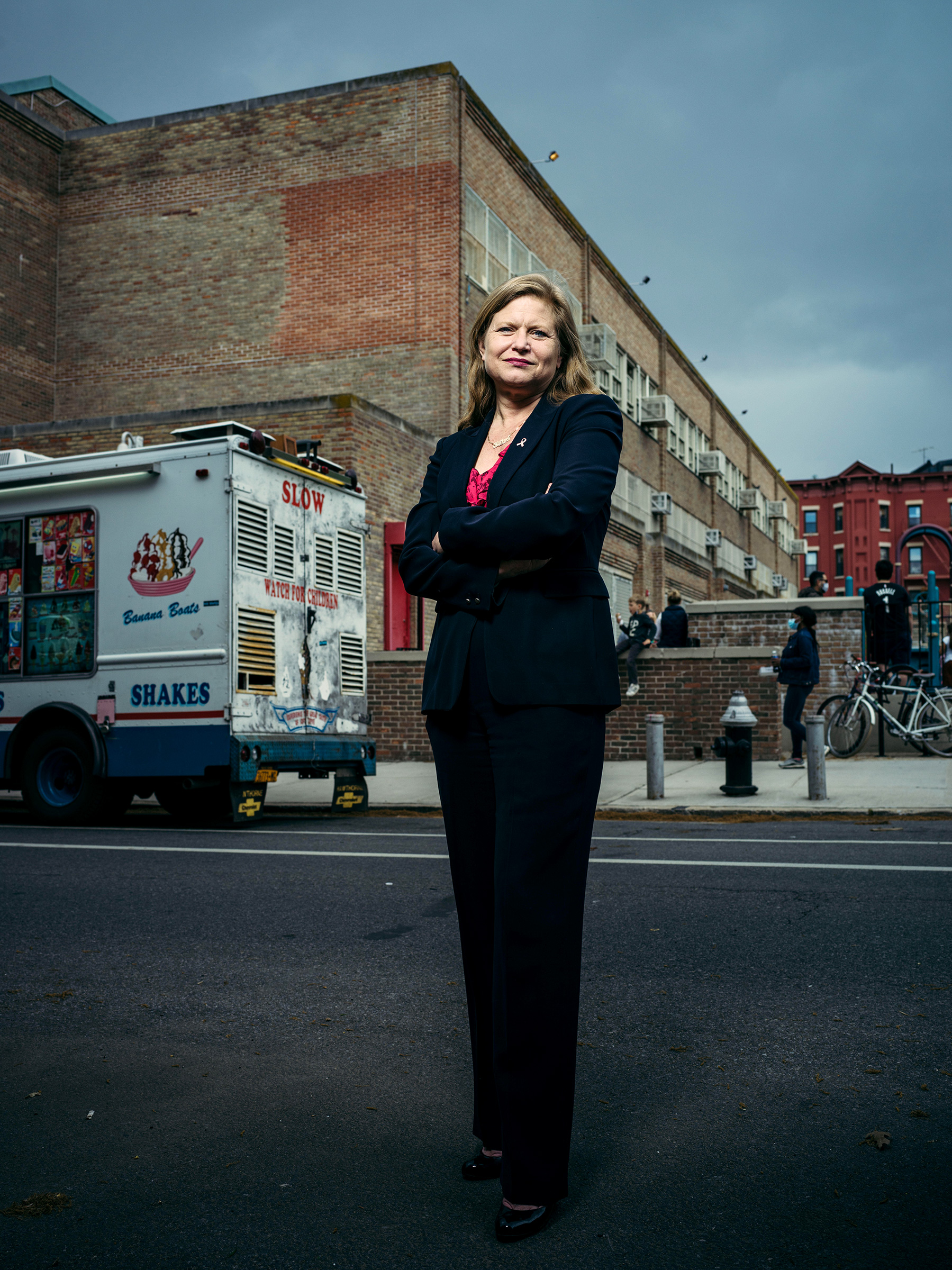 Kathryn Garcia, a longtime civil servant who served as commissioner of New York City's Sanitation Department, in Brooklyn on April 30, 2021.