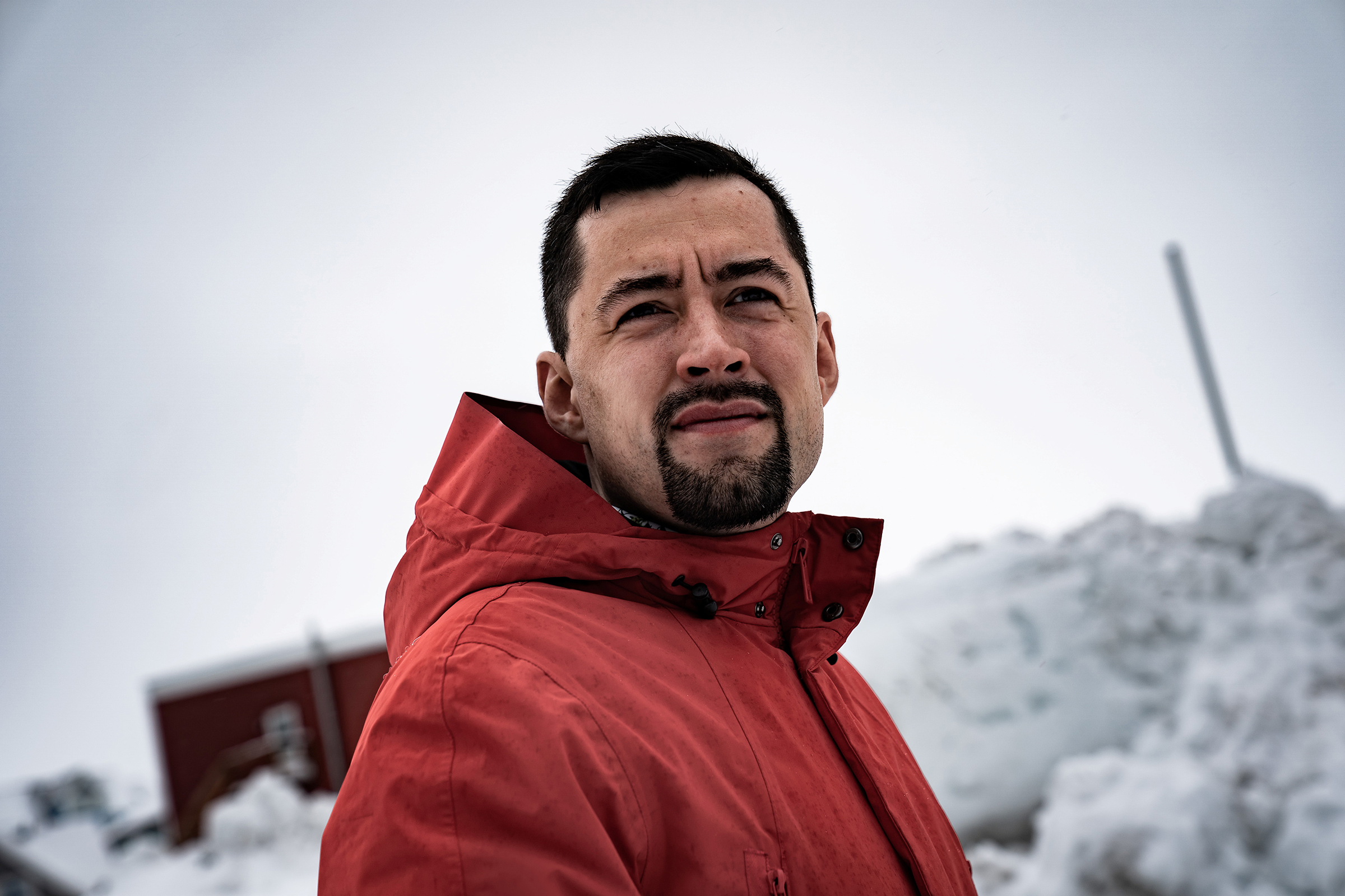 Mute Egede, pictured ahead of the parliamentary elections in April, in which his Inuit Ataqatigiit party secured a win and lifted him to Prime Minister.