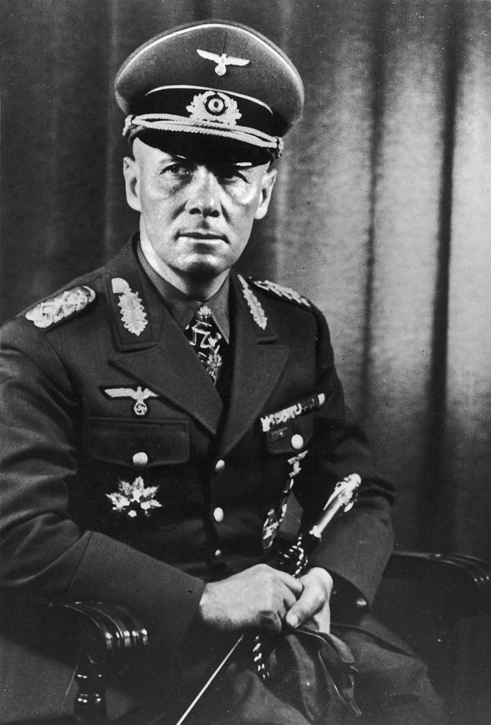 A circa 1941 portrait of German General (and later Field Marshall) Erwin Rommel.