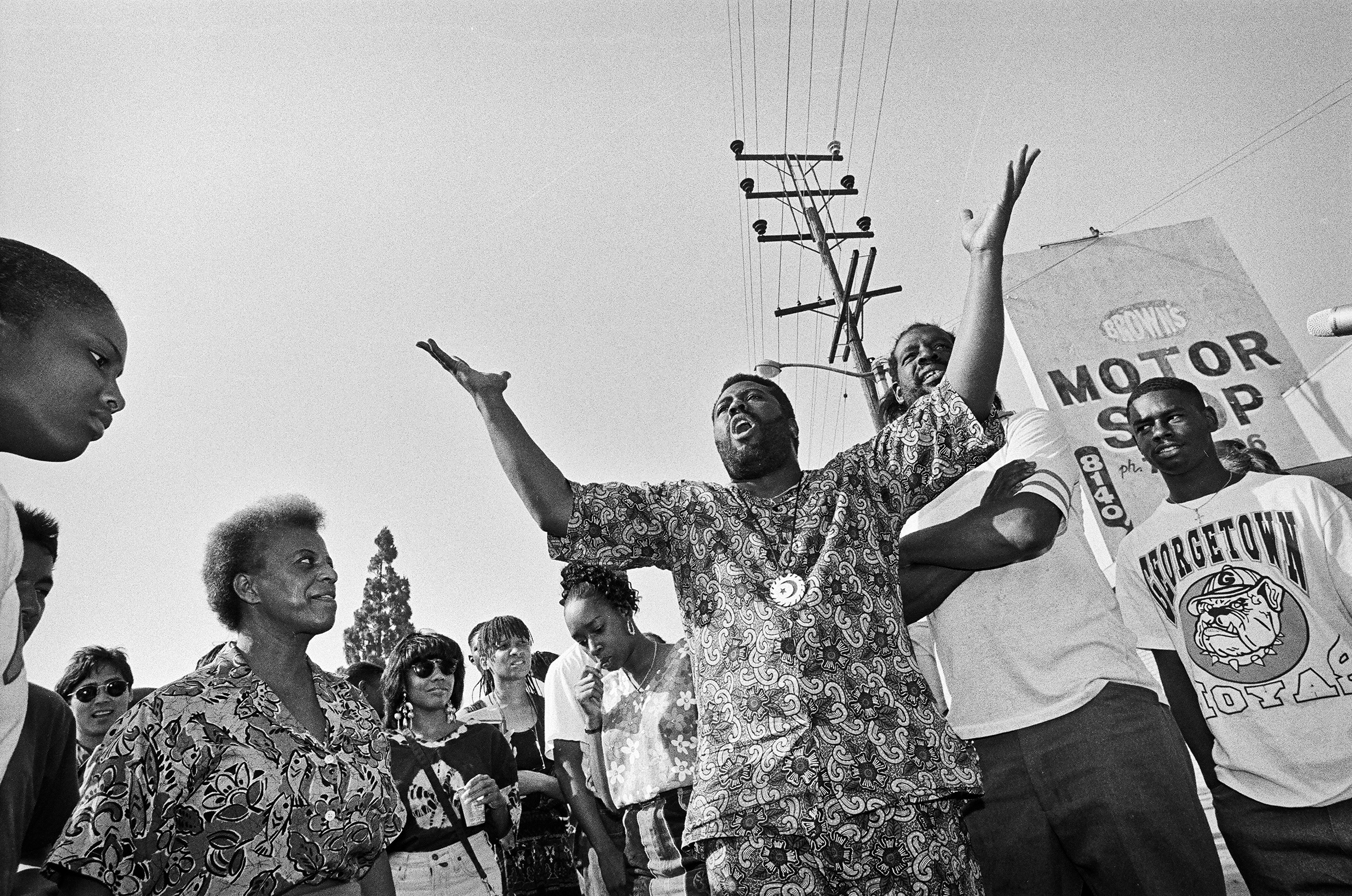 After days of rioting, South Central residents gather to ask their fellow residents to stop the violence.