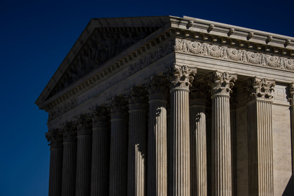 The outside Supreme Court of the United States is seen on November 10, 2020 in Washington, DC.