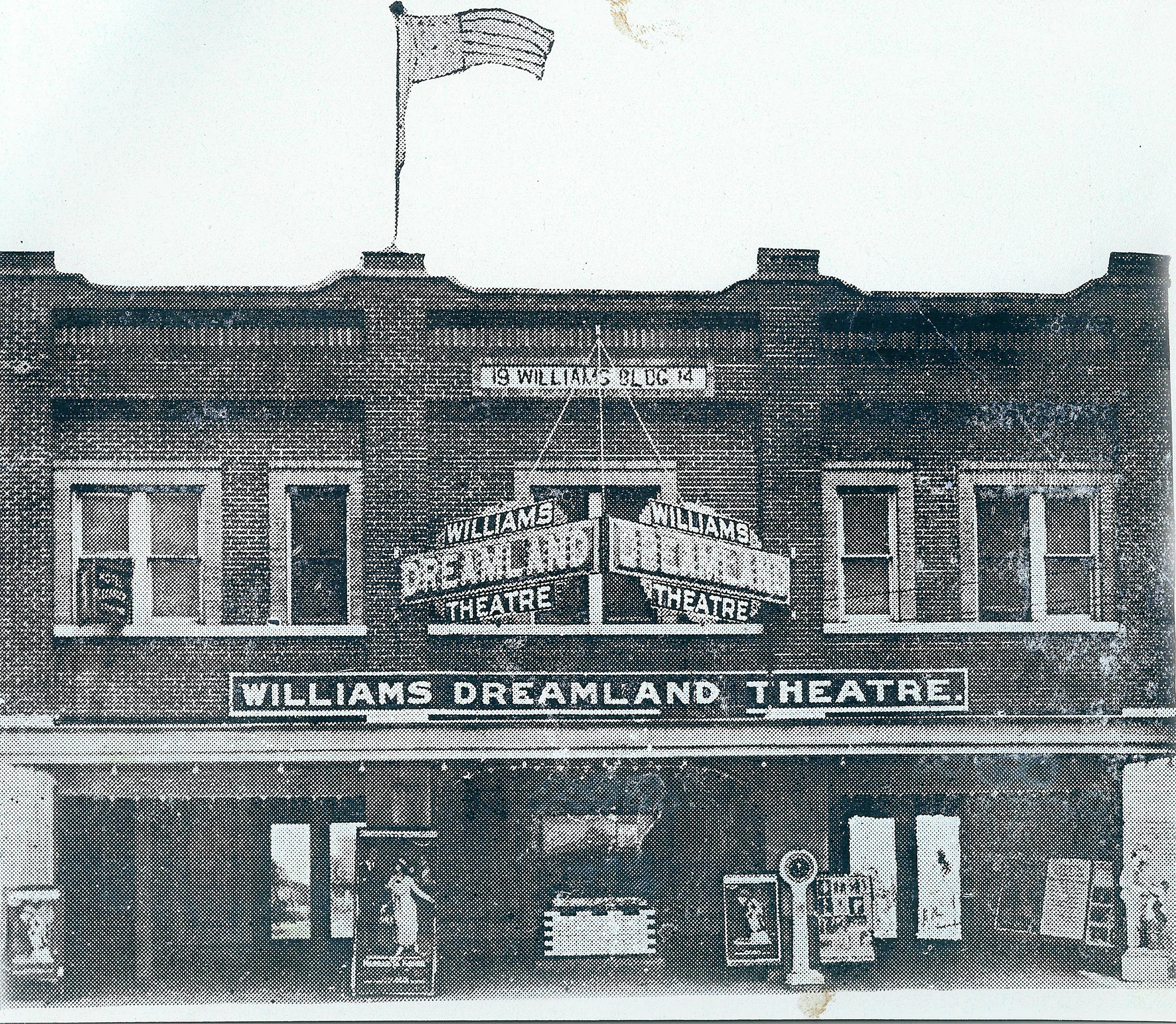 The Williams Dreamland Theatre in Tulsa, Okla., before it was destroyed during the Tulsa Race Massacre.