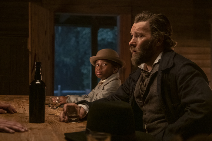Chase W. Dillon and Joel Edgerton in 'The Underground Railroad'