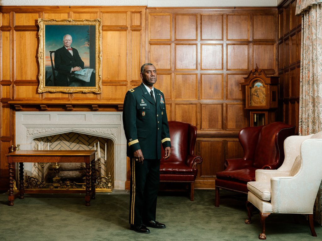 Major General Cedric Wins, class of 1985, was named superintendent in April, the first Black man in the position.