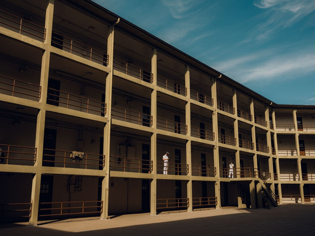 Inside the barracks that house VMI's 1,700 undergraduate cadets.