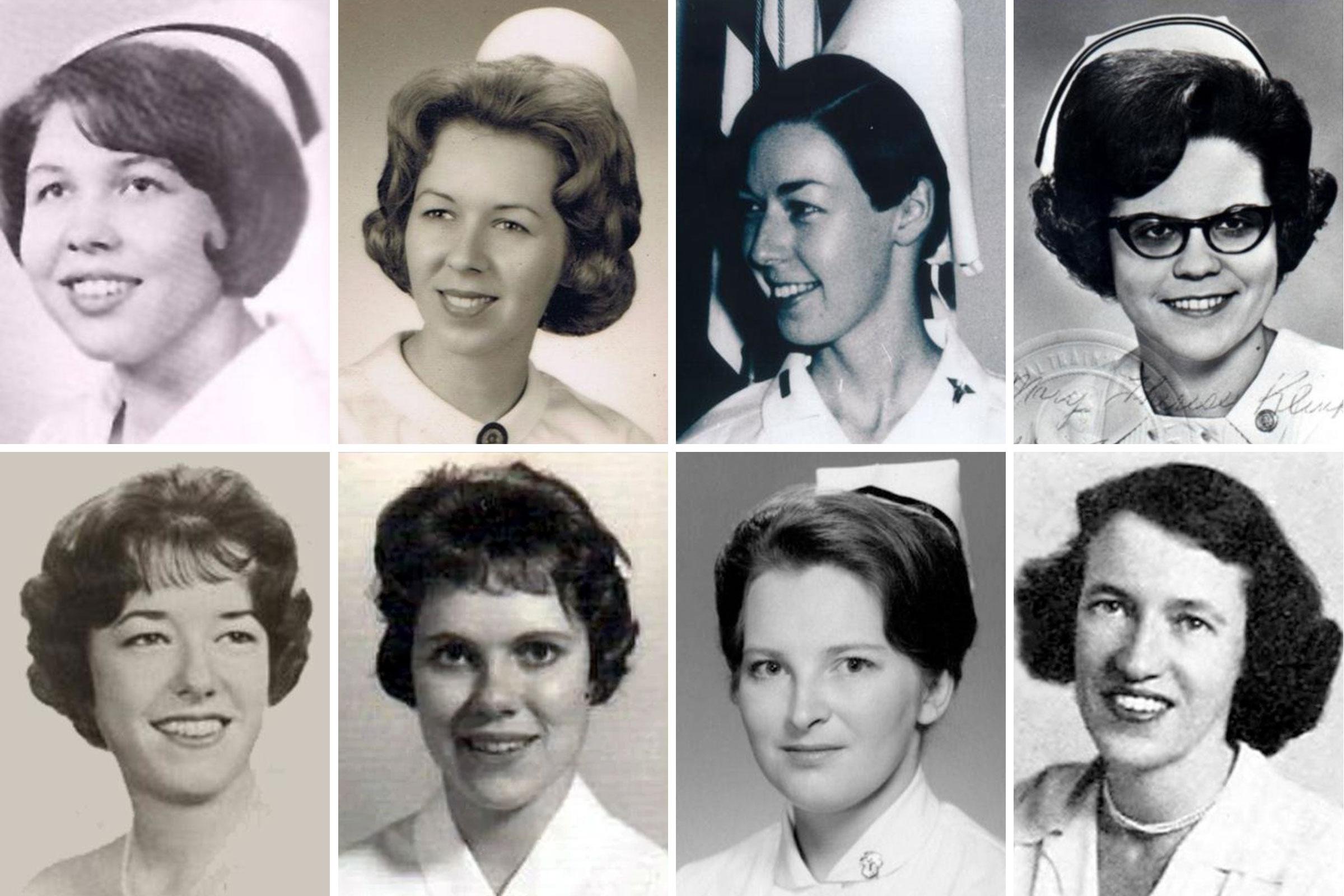 1st. Lt. Hedwig Orlowski, 2nd Lt. Carol Drazba, 1st. Lt.Sharon Lane, Capt. Mary Klinker, Capt. Eleanor Alexander, 2nd Lt. Elizabeth Jones, 2nd Lt. Pamela Donovan, LTC Annie Graham