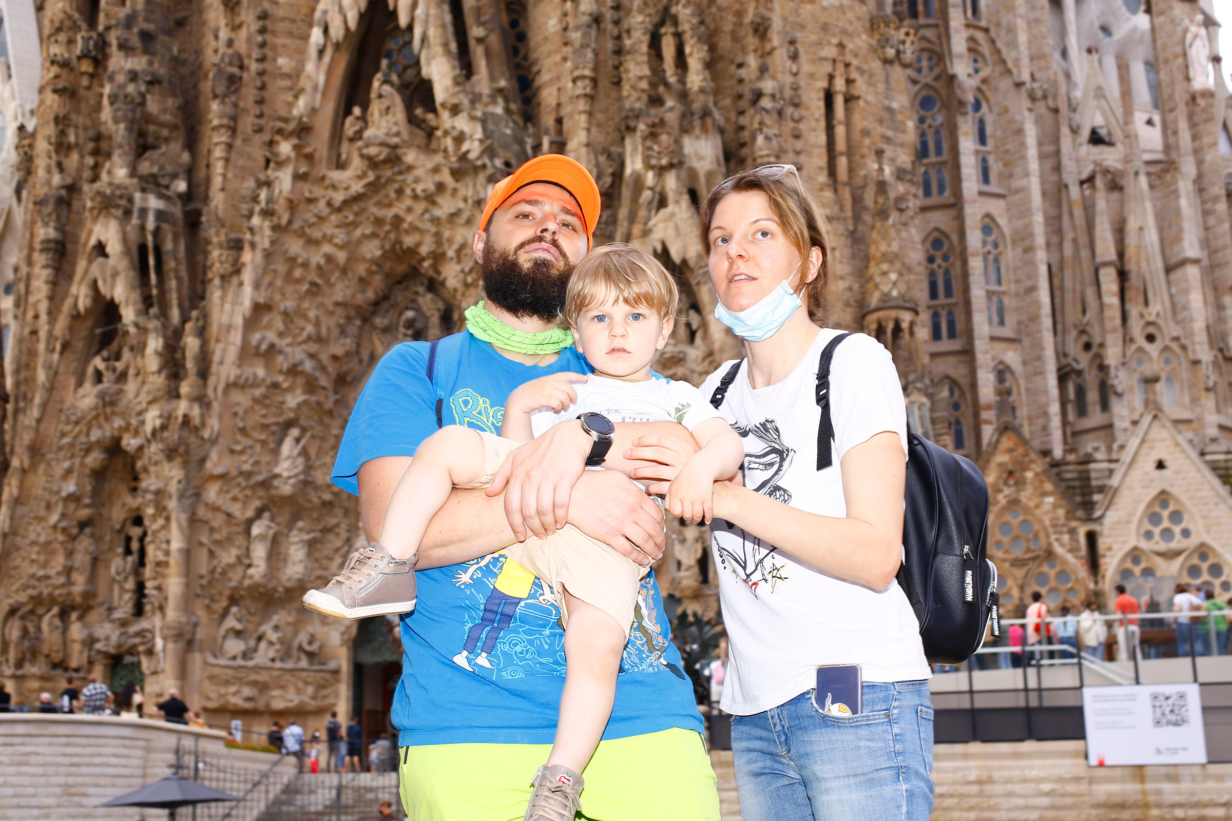 Tourists visit the recently reopened Sagrada Familia on June 6.