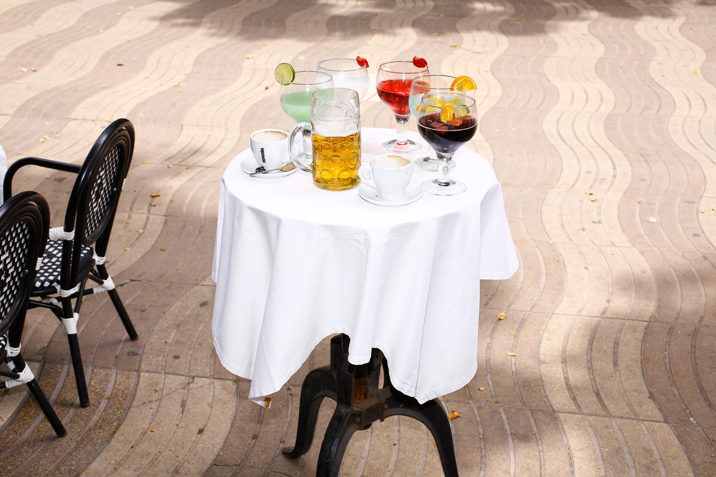 A cafe on Las Ramblas in Barcelona on June 6.