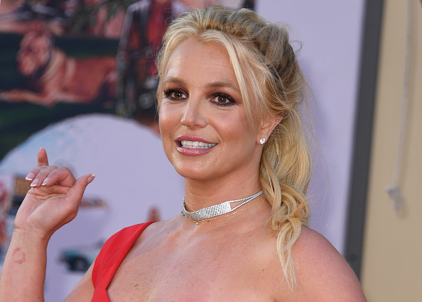 Britney Spears arrives at the premiere of Sony Pictures'  Once Upon a Time... in Hollywood  at the TCL Chinese Theatre in Hollywood, California on July 22, 2019.