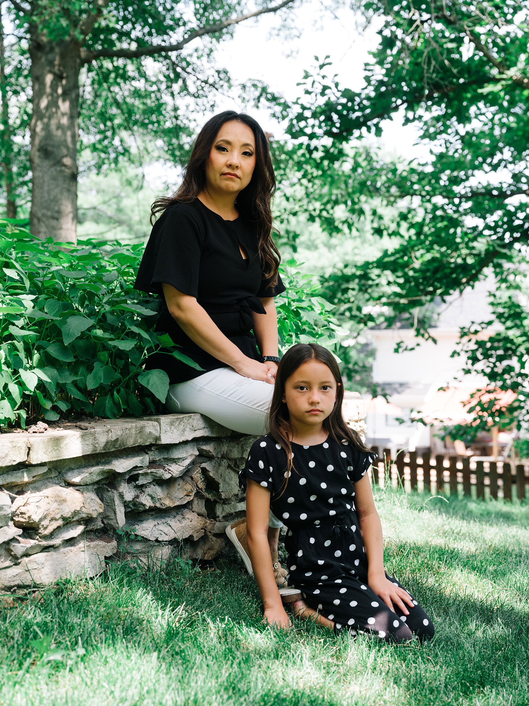 """I want to help slow down the madness that we're in right now."""" Amy Ryan, Rockwood parent, with her daughter"""