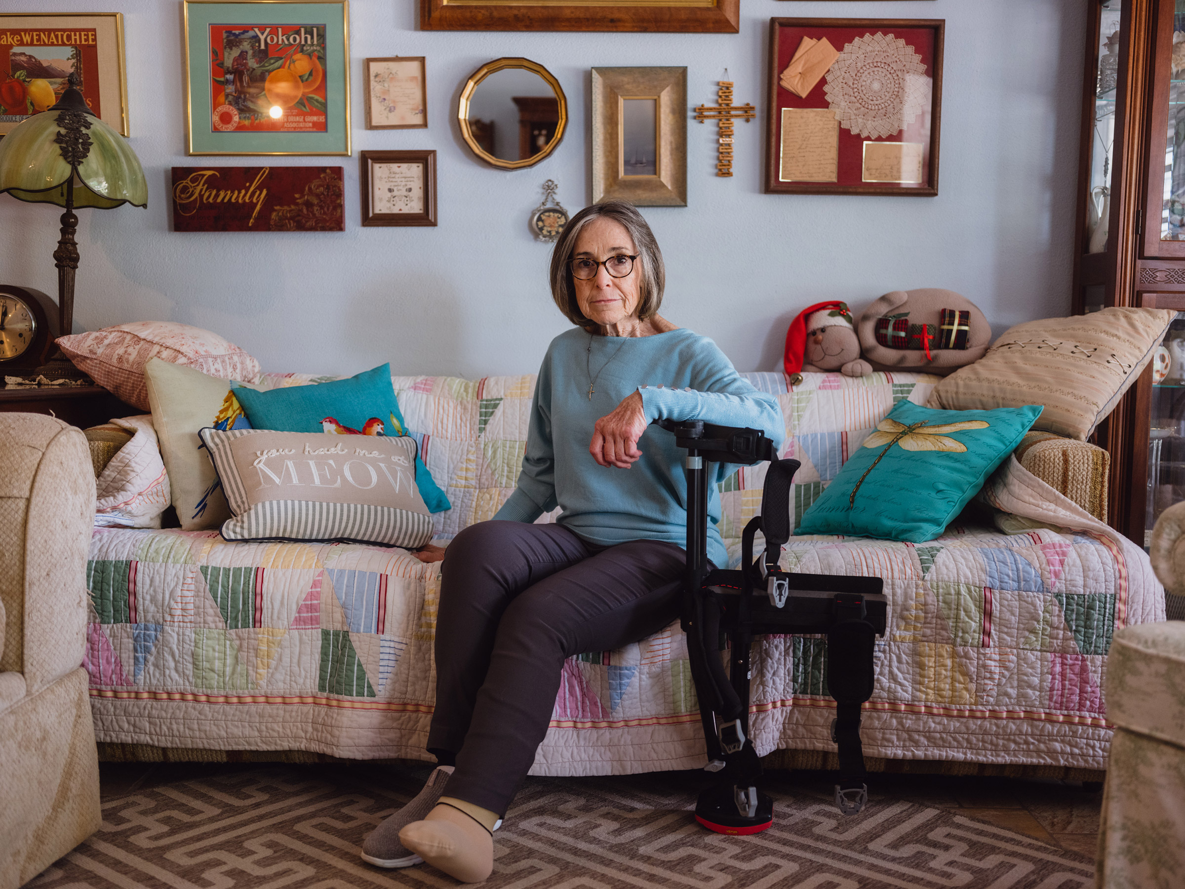 Nancy Thompson wants to say in the home where she's lived for three decades in Pasadena, Texas.