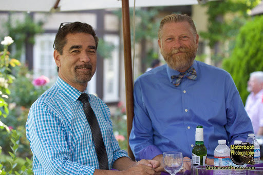 Jeff Wacha (right) and his husband, Garry Bowie, who was head of the nonprofit Being Alive, an L.A.-based HIV/AIDS social services organization, until he passed away from COVID-19 complications in April 2020.