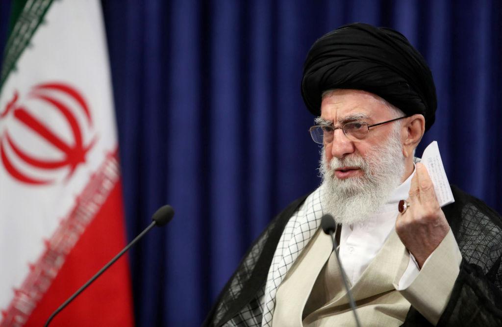 Iranian Supreme Leader Ayatollah Ali Khamanei speaks on upcoming presidential election on the death anniversary of former Supreme Leader of Iran Ayatollah Ruhollah Khomeini in Tehran, Iran on June 04, 2021