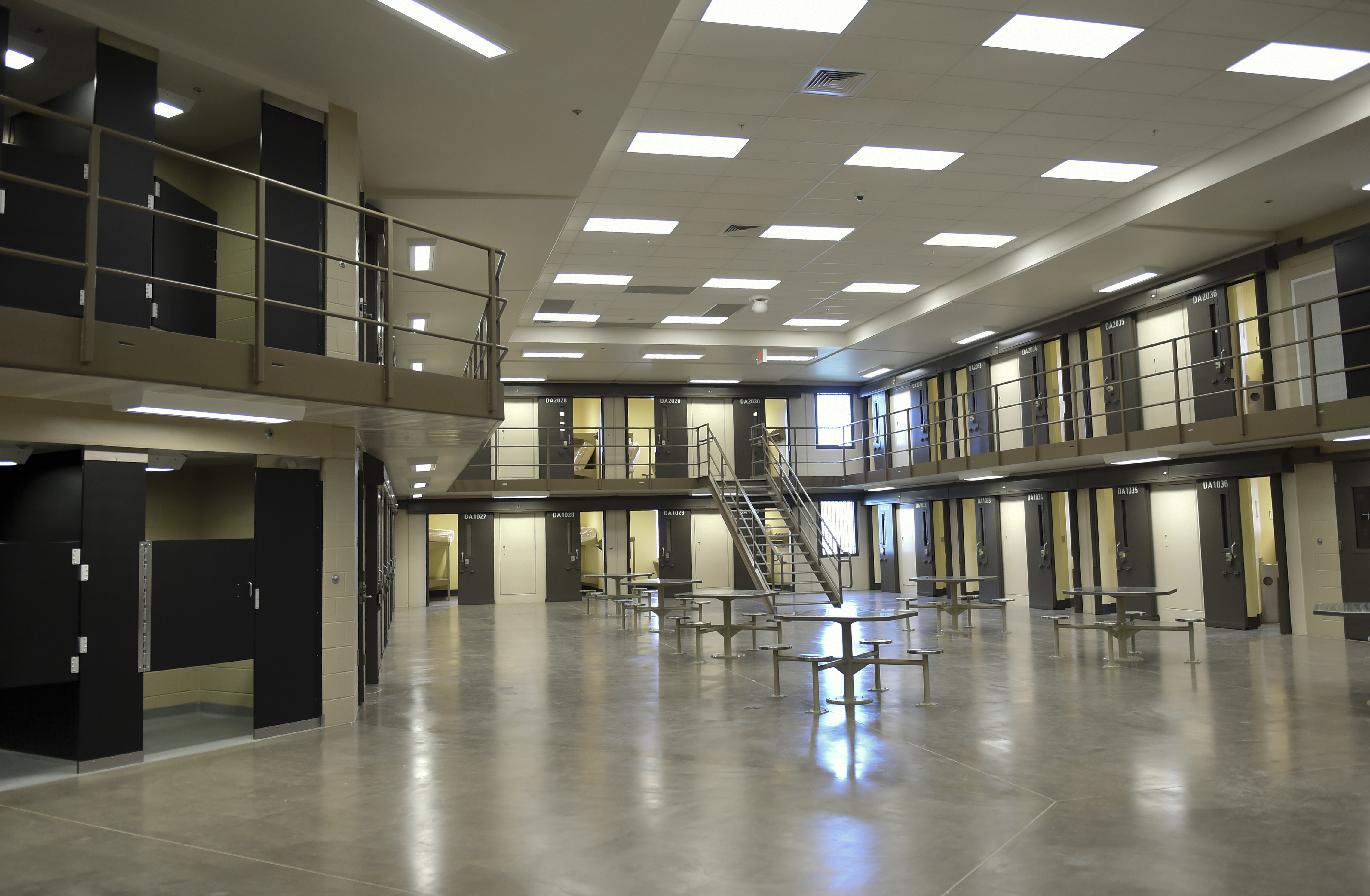 Inside block D at the State Correctional Institution in Phoenixville, Pennsylvania on June 1, 2018.