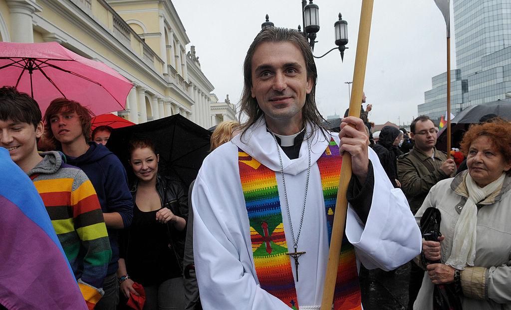 Szymon Niemiec participates in a Gay Pride Parade in Warsaw, Poland on June 13, 2009