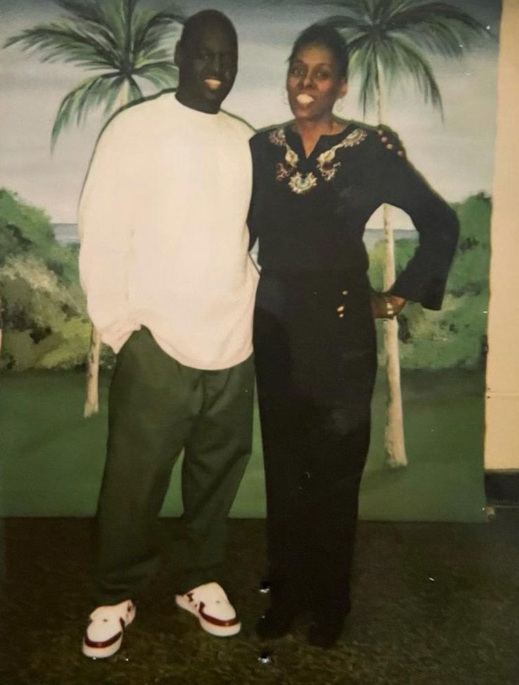 Jamel Floyd with his mother, Donna Mays, in an undated photo.
