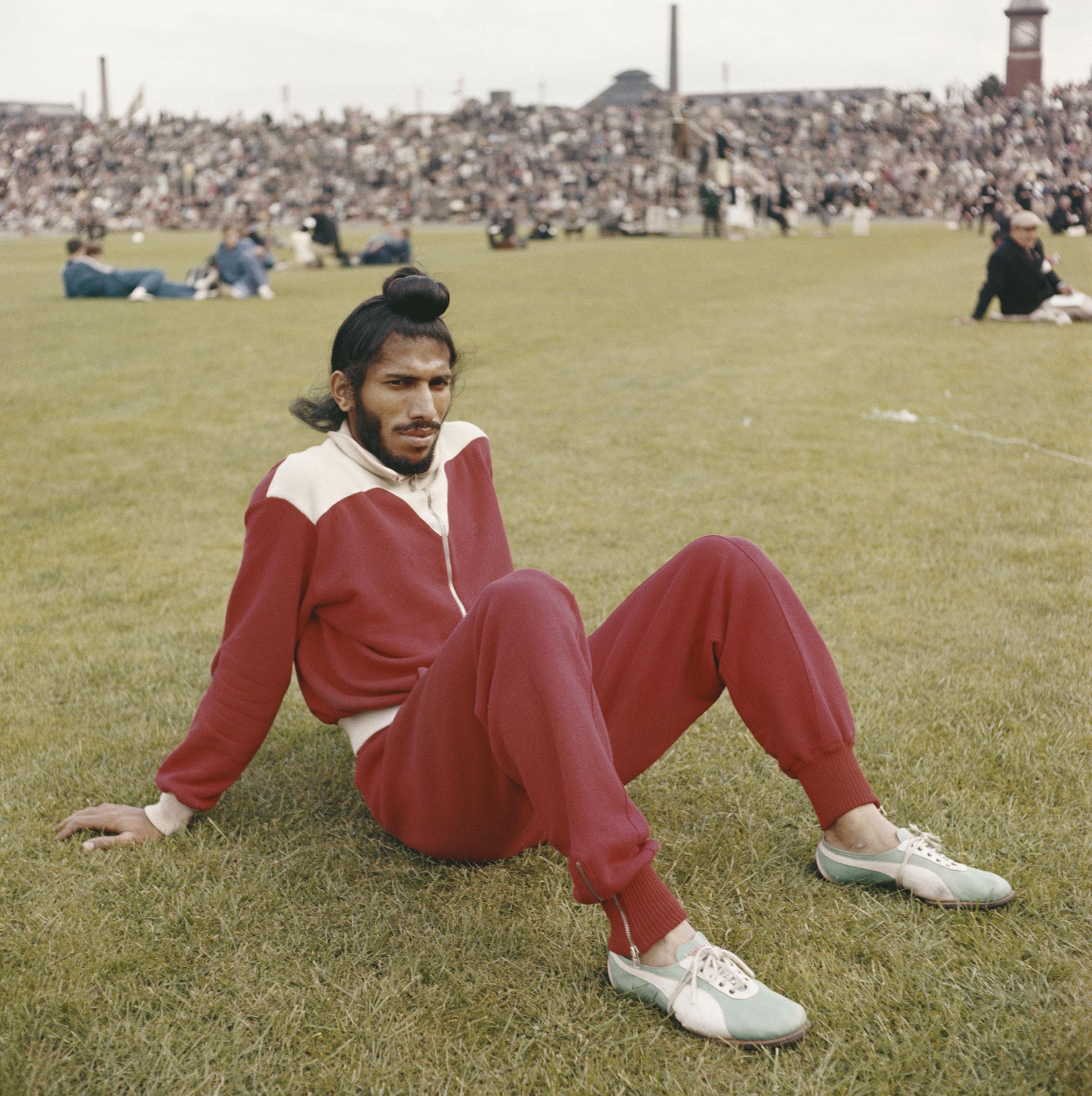 Singh at an athletics meet in Edinburgh in 1960