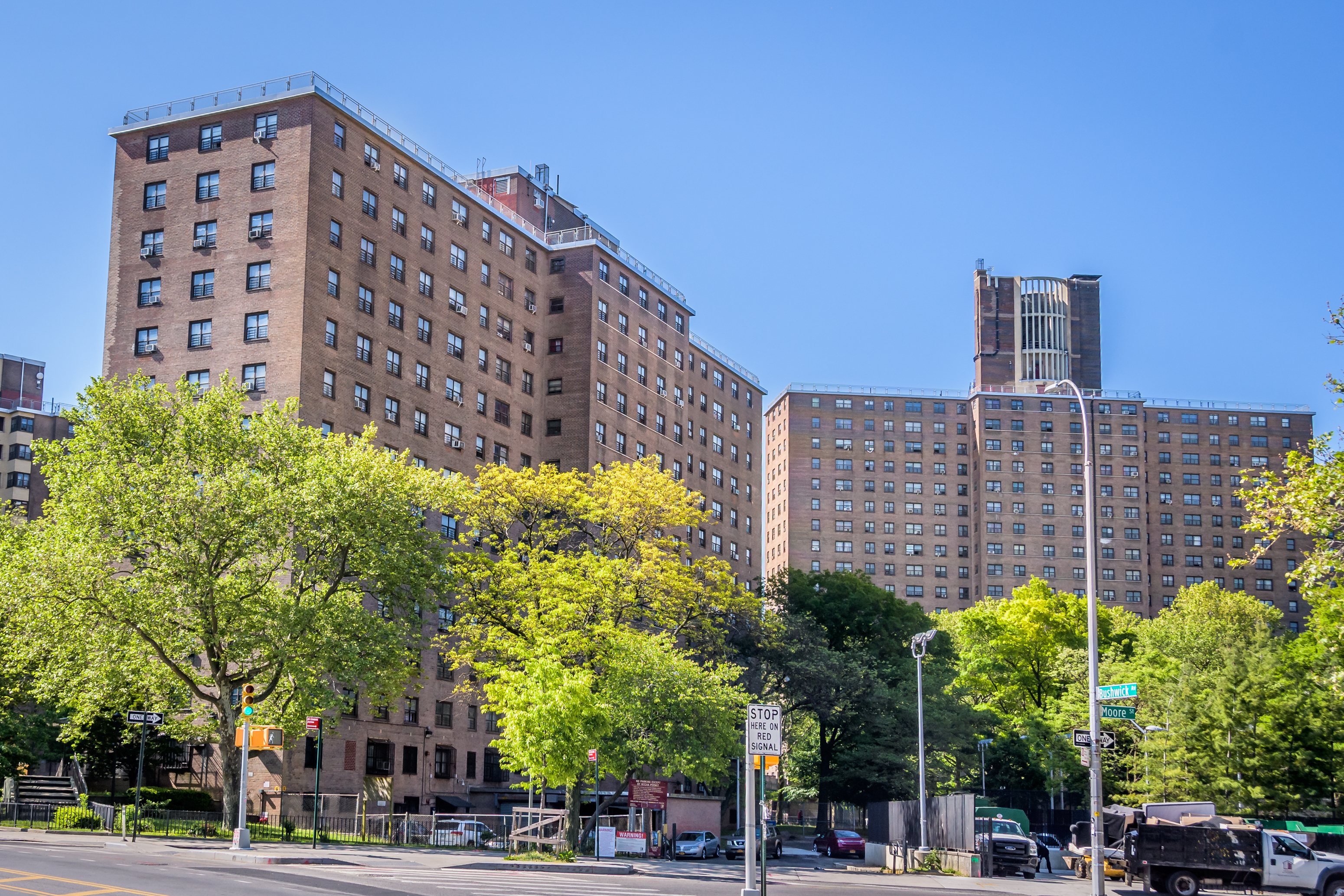 At the height of the pandemic, New York officials said the COVID-19 death rate among residents of public housing projects such as Brooklyn's Bushwick Houses was more than twice that of the city as a whole.