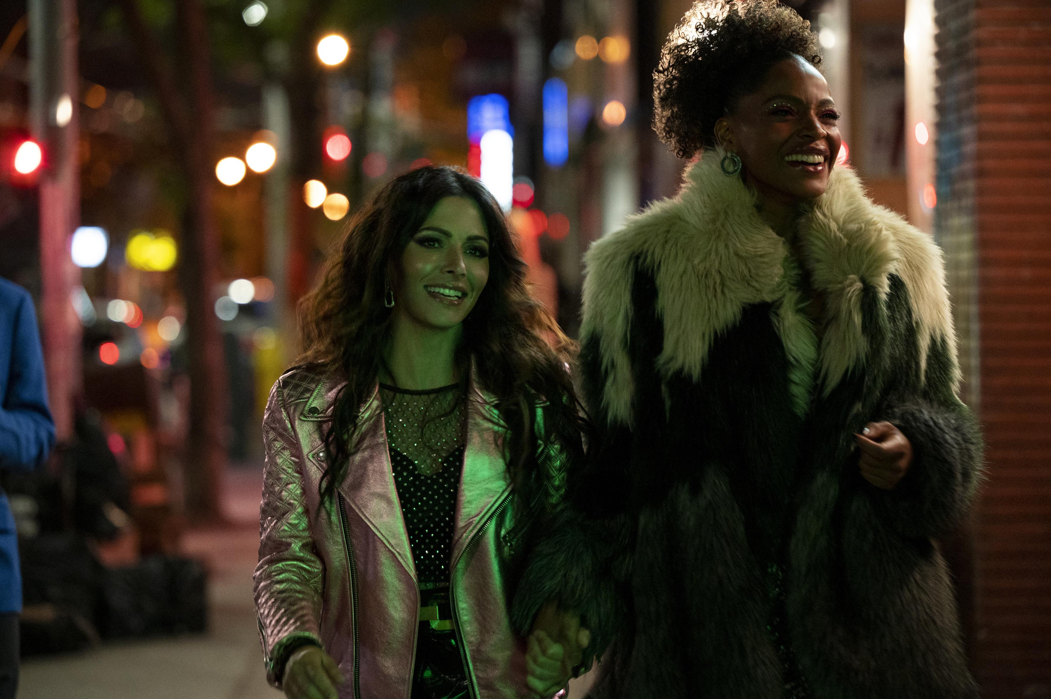 Sarah Shahi, left, and Margaret Odette in 'Sex/Life'