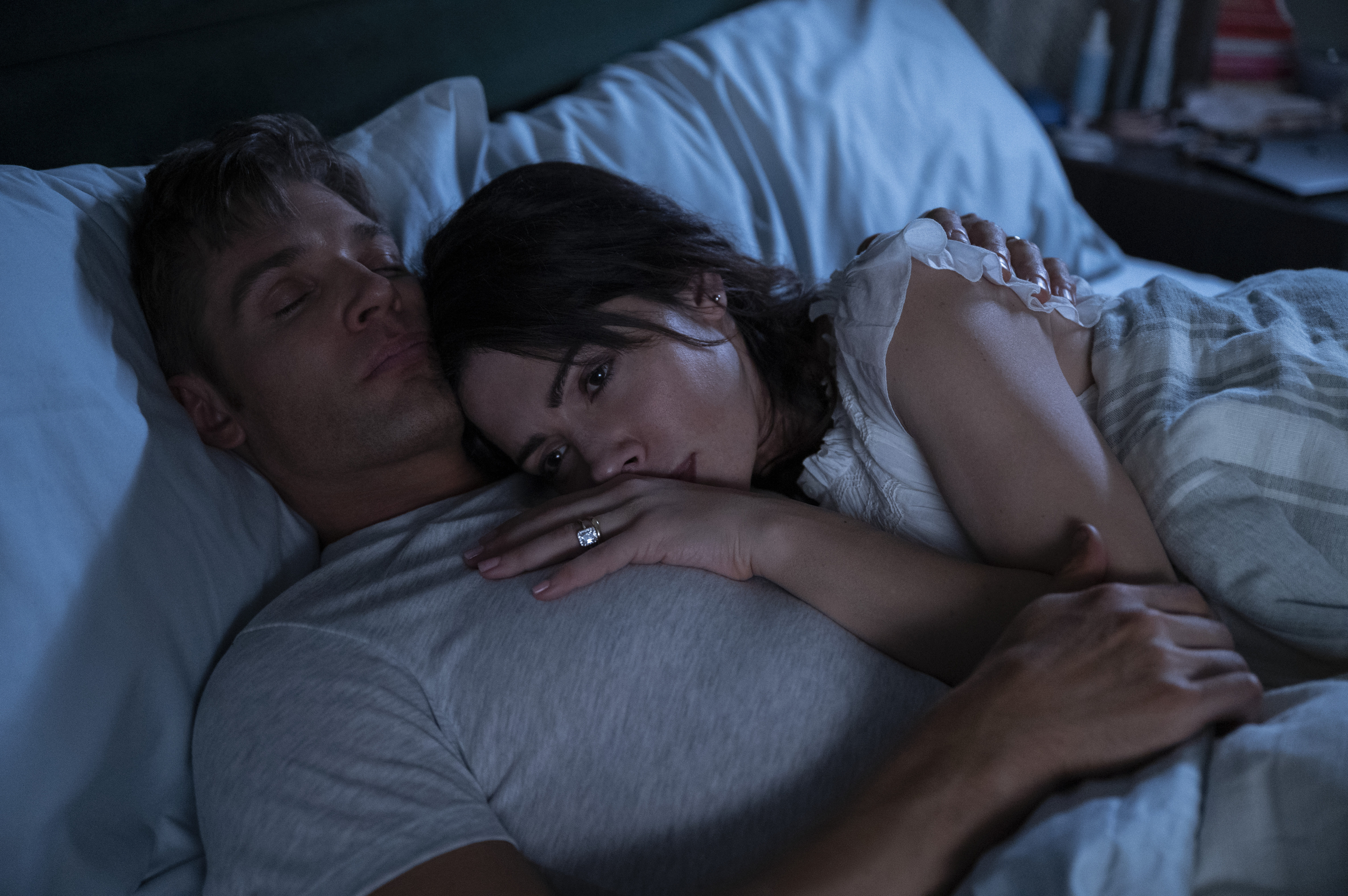 Mike Vogel and Sarah Shahi in 'Sex/Life'