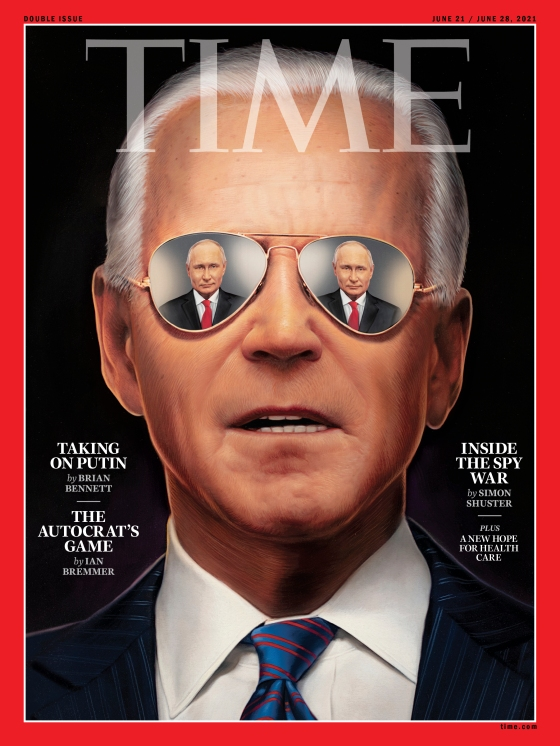 Joe Biden Putin Time Magazine cover