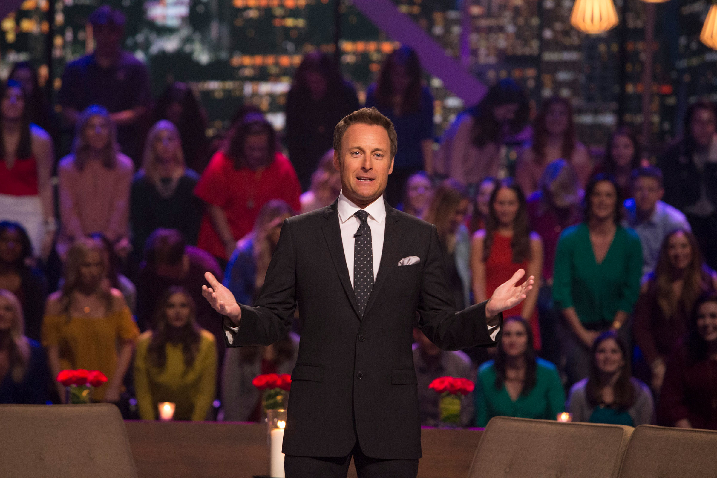 Chris Harrison during the After the Final Rose episode of season 22 of 'The Bachelor' in 2018.
