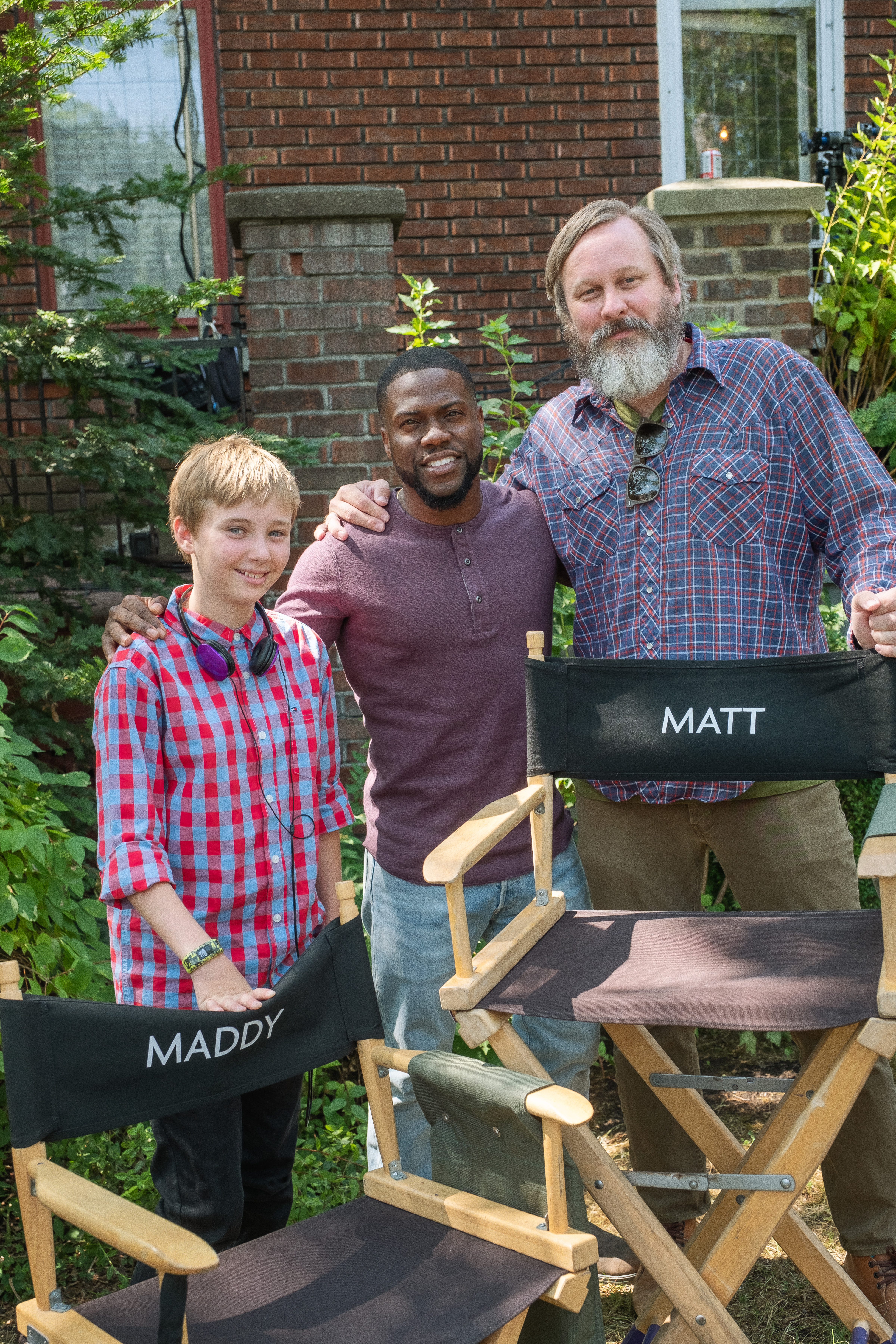 Behind the scenes on 'Fatherhood' with Matt Logelin and his daughter Maddy, and Kevin Hart