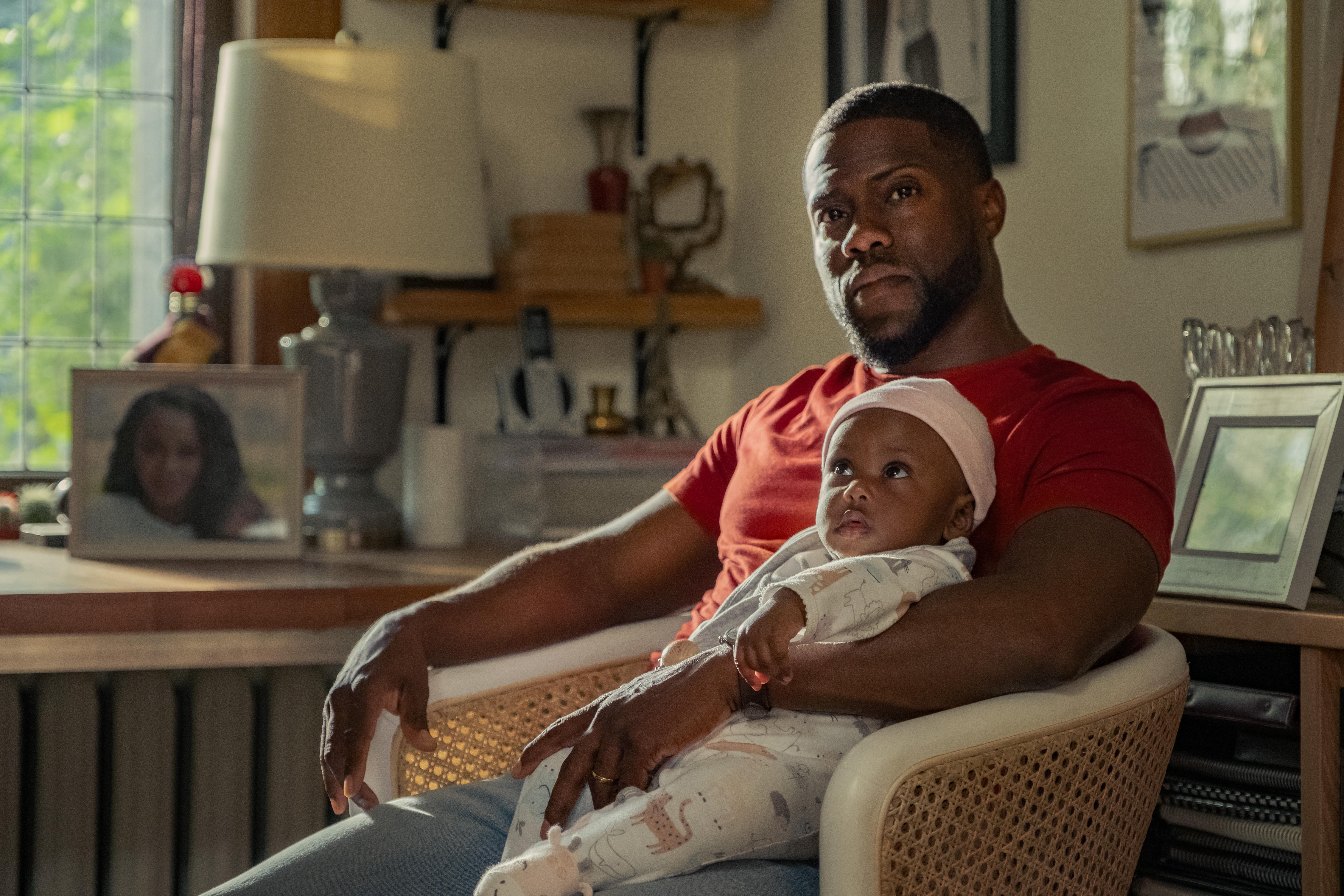 Kevin Hart as Matt Logelin in 'Fatherhood'