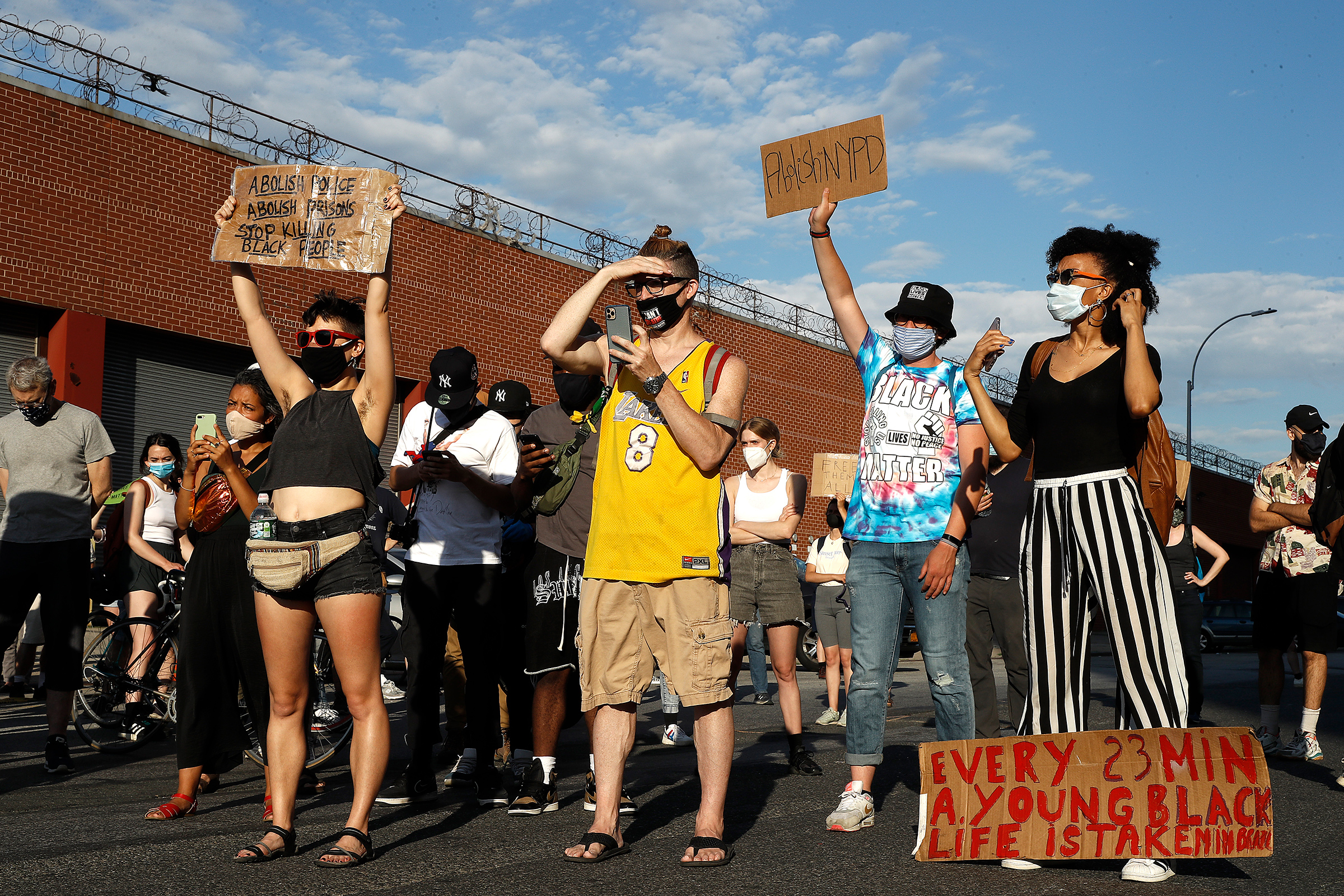Demonstrators and family members protest the death of Jamel Floyd on June 26, 2020. A year after his death, Floyd's family have filed a lawsuit against the Bureau of Prisons.