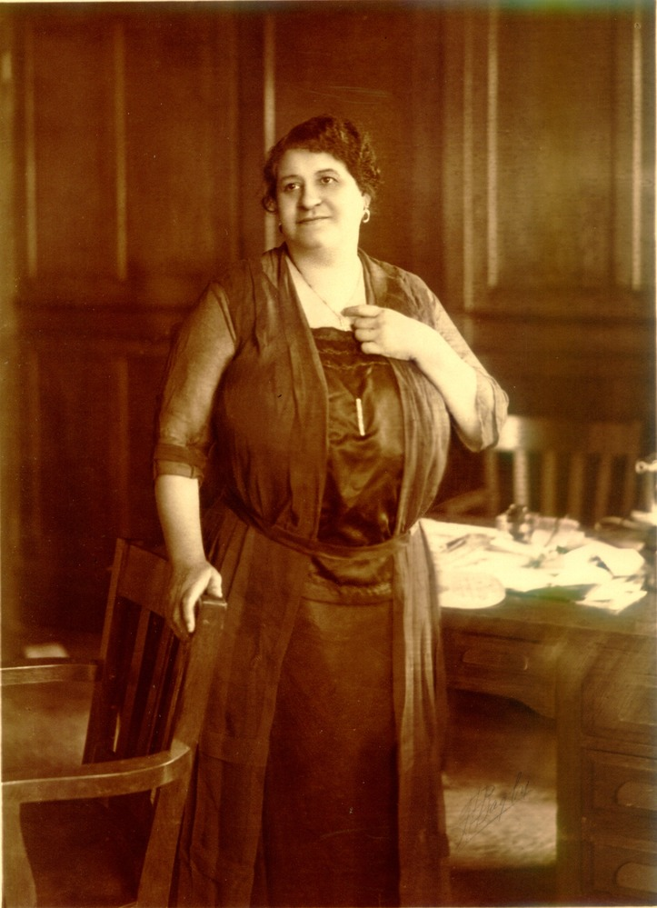 An undated photo of Maggie Walker in her office in the St. Luke building.