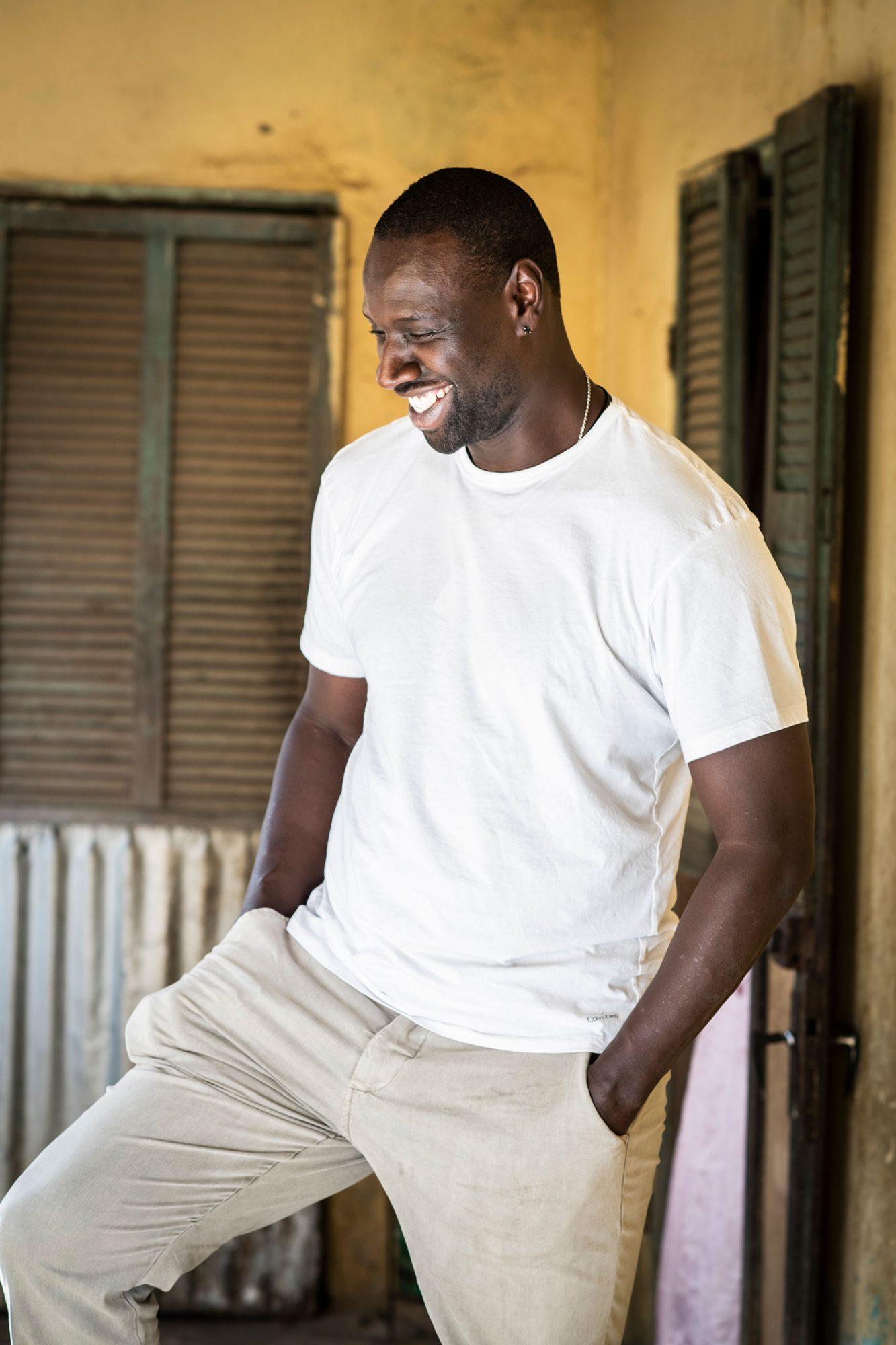 Omar Sy on set for a film in Senegal on Dec. 10, 2018.