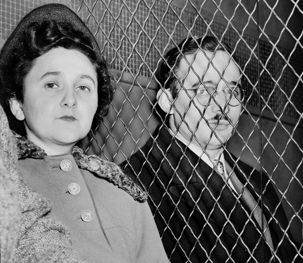 Ethel Rosenberg, with her husband Julius, after being convicted of espionage