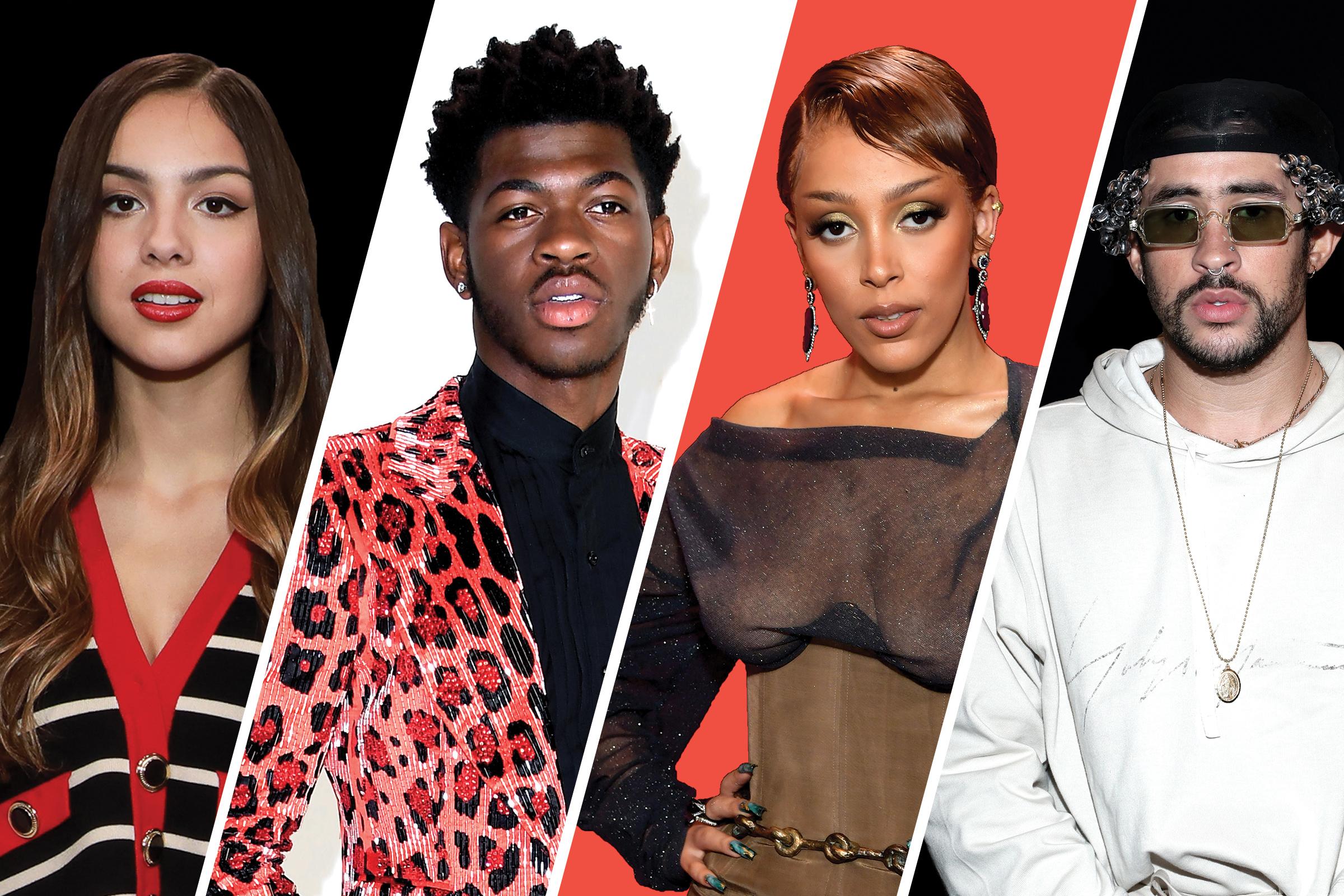 Lil Nas X, Doja Cat, Olivia Rodrigo and Bad Bunny