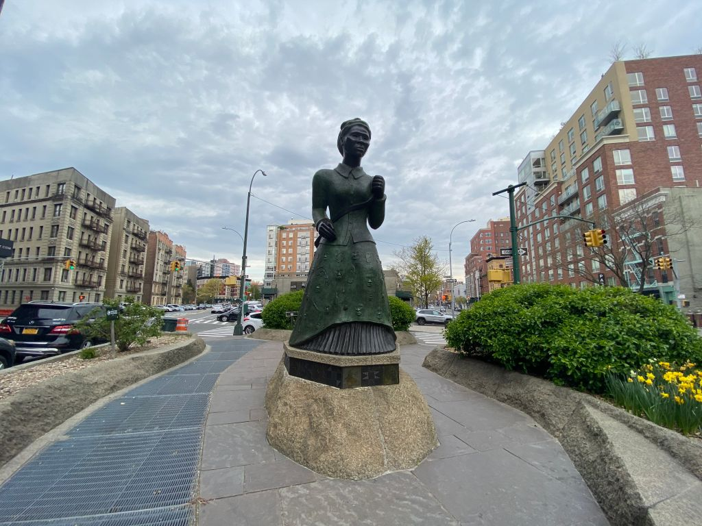 A view of the Harriet Tubman Memorial in Harlem during the coronavirus pandemic on April 23, 2020 in New York City. COVID-19 has spread to most countries around the world, claiming over 189,000 lives with infections over 2.7 million people.