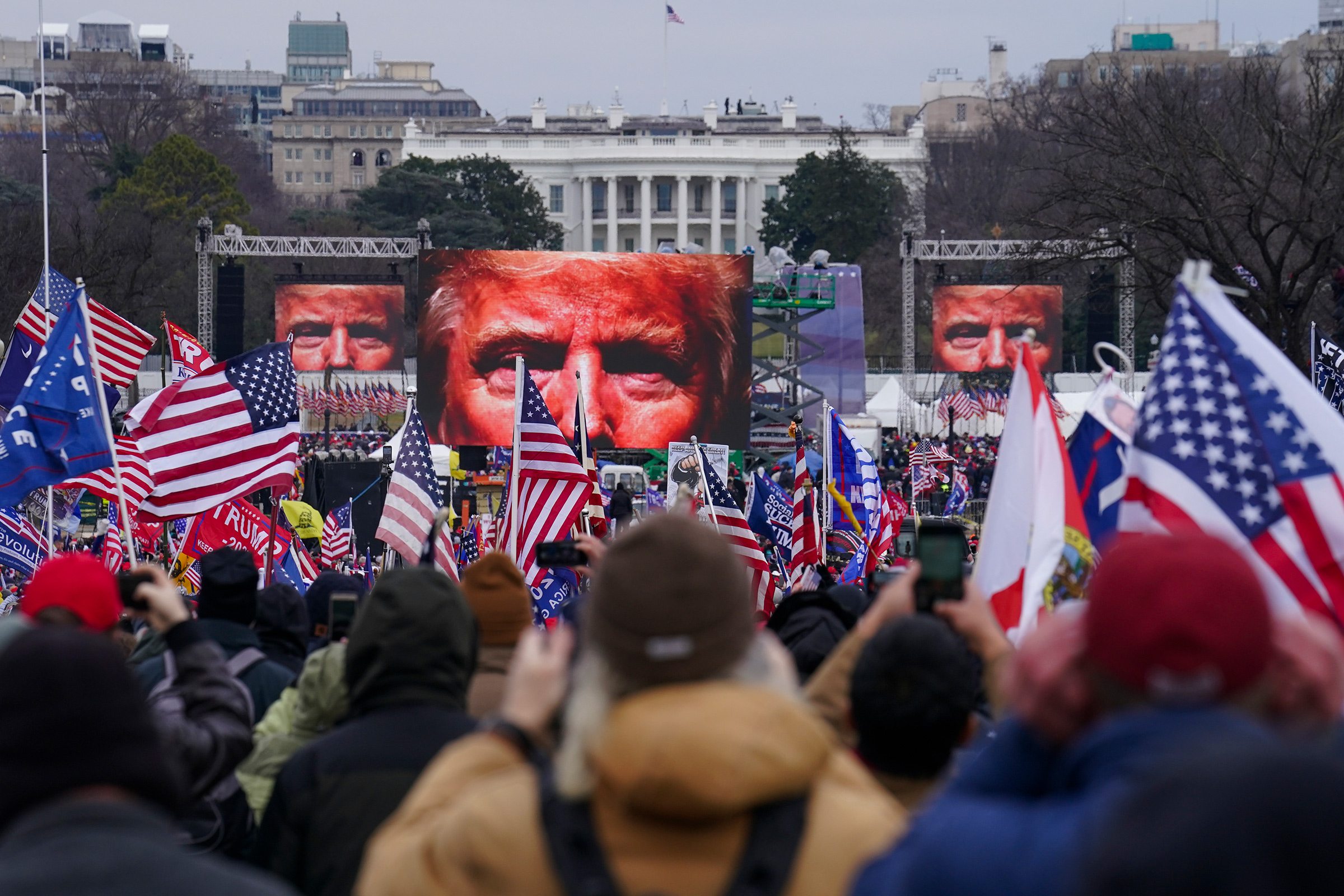 Trump supporters participate in a rally in Washington on Jan 6.
