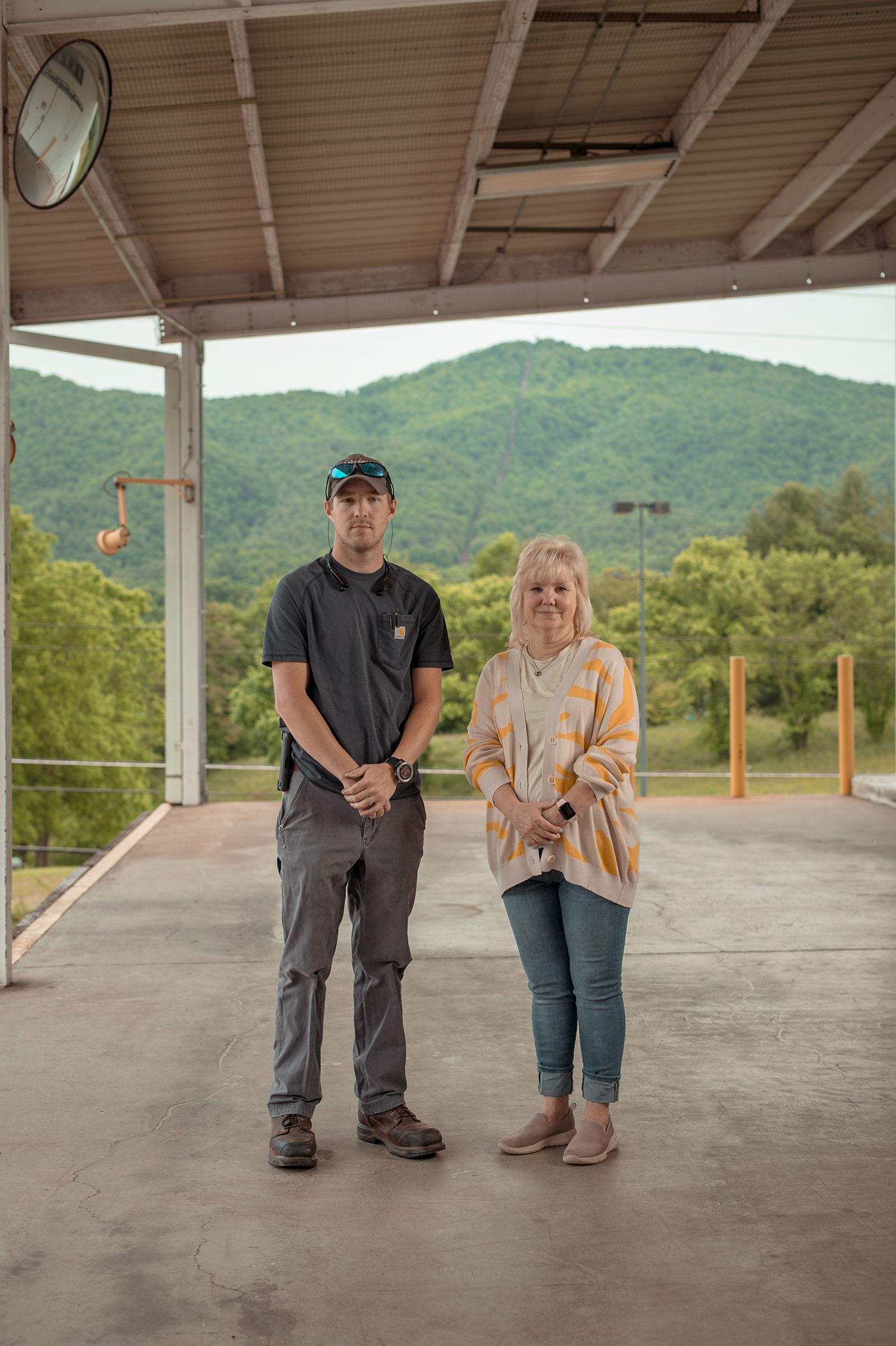 Renea Jones Rogers, co-owner of Jones and Church Farms tomato farm, and her son, Nick Rogers