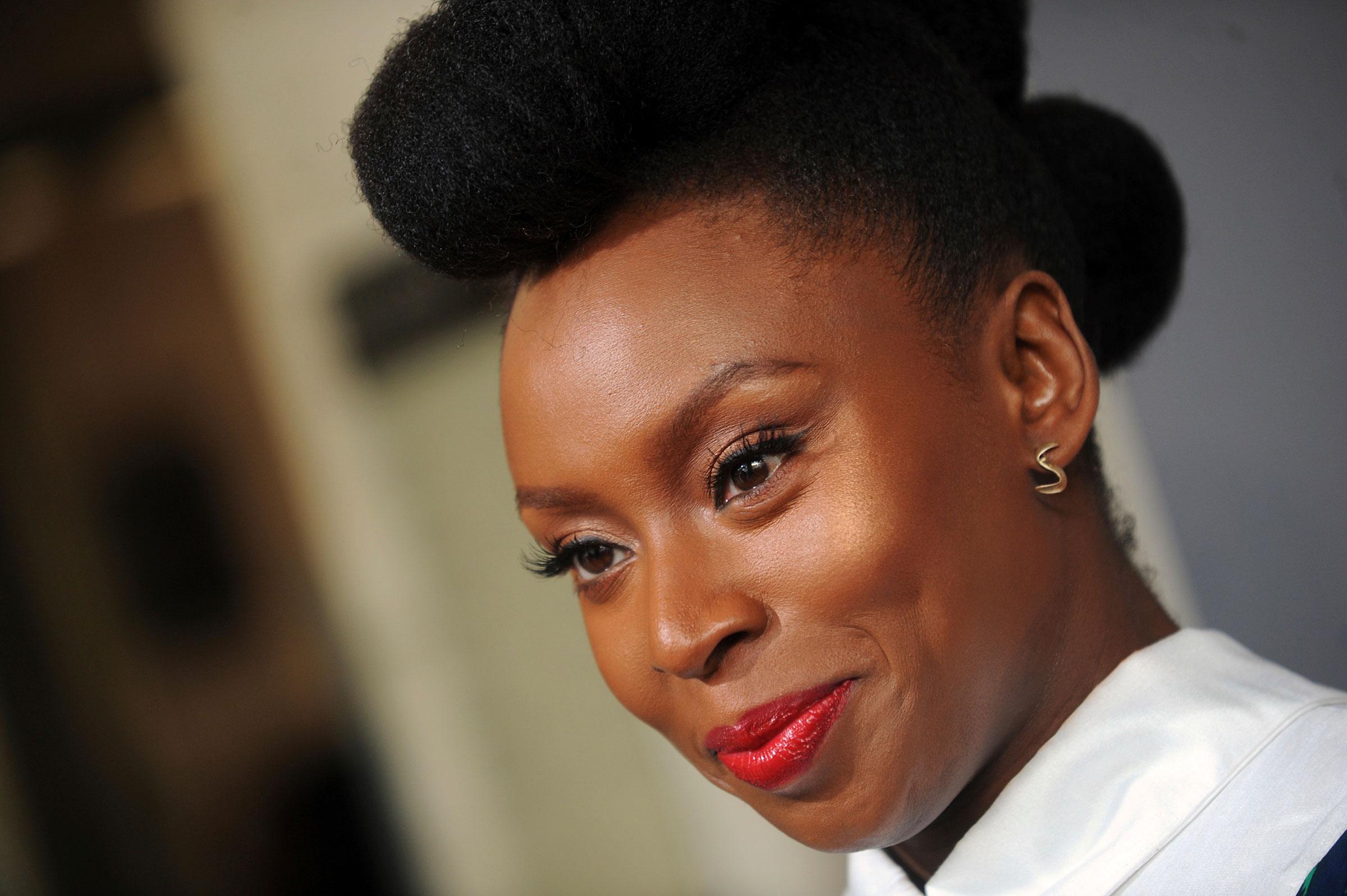 Chimamanda Ngozi Adichie in New York City on April 5, 2017.