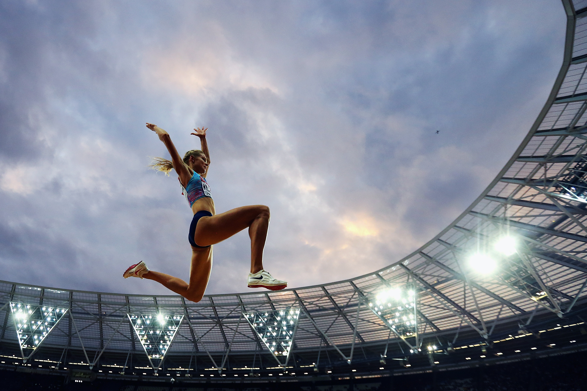 Darya Klishina of the Authorised Neutral Athletes, competes in the Women's Long Jump final during day eight of the 16th IAAF World Athletics Championships London 2017 at The London Stadium on August 11, 2017 in London, United Kingdom.