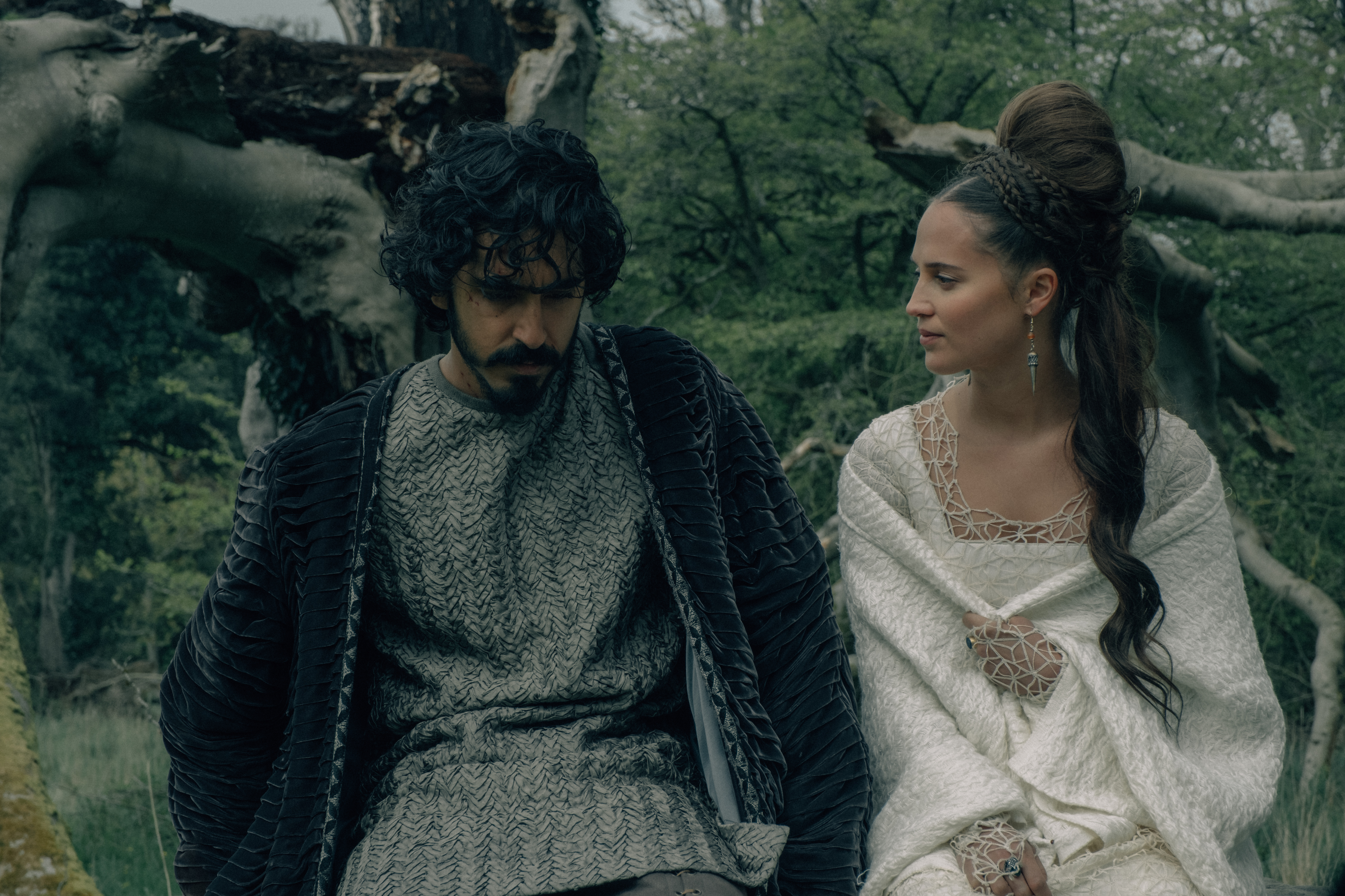 Alicia Vikander plays two roles in 'The Green Knight'