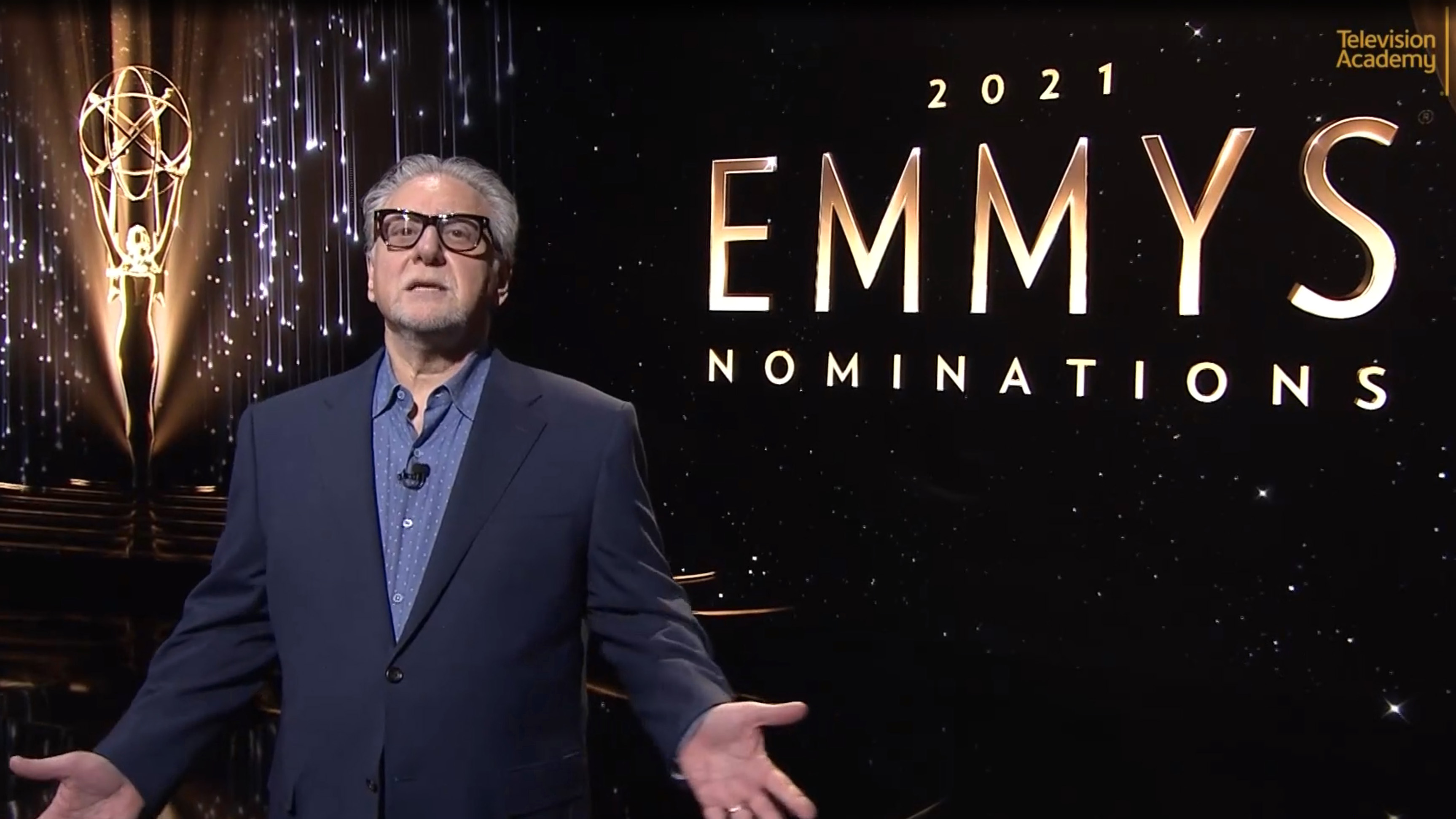 Television Academy Chairman and CEO Frank Scherma speaks during the 2021 Primetime Emmy Nominations Announcement on July 13, 2021.